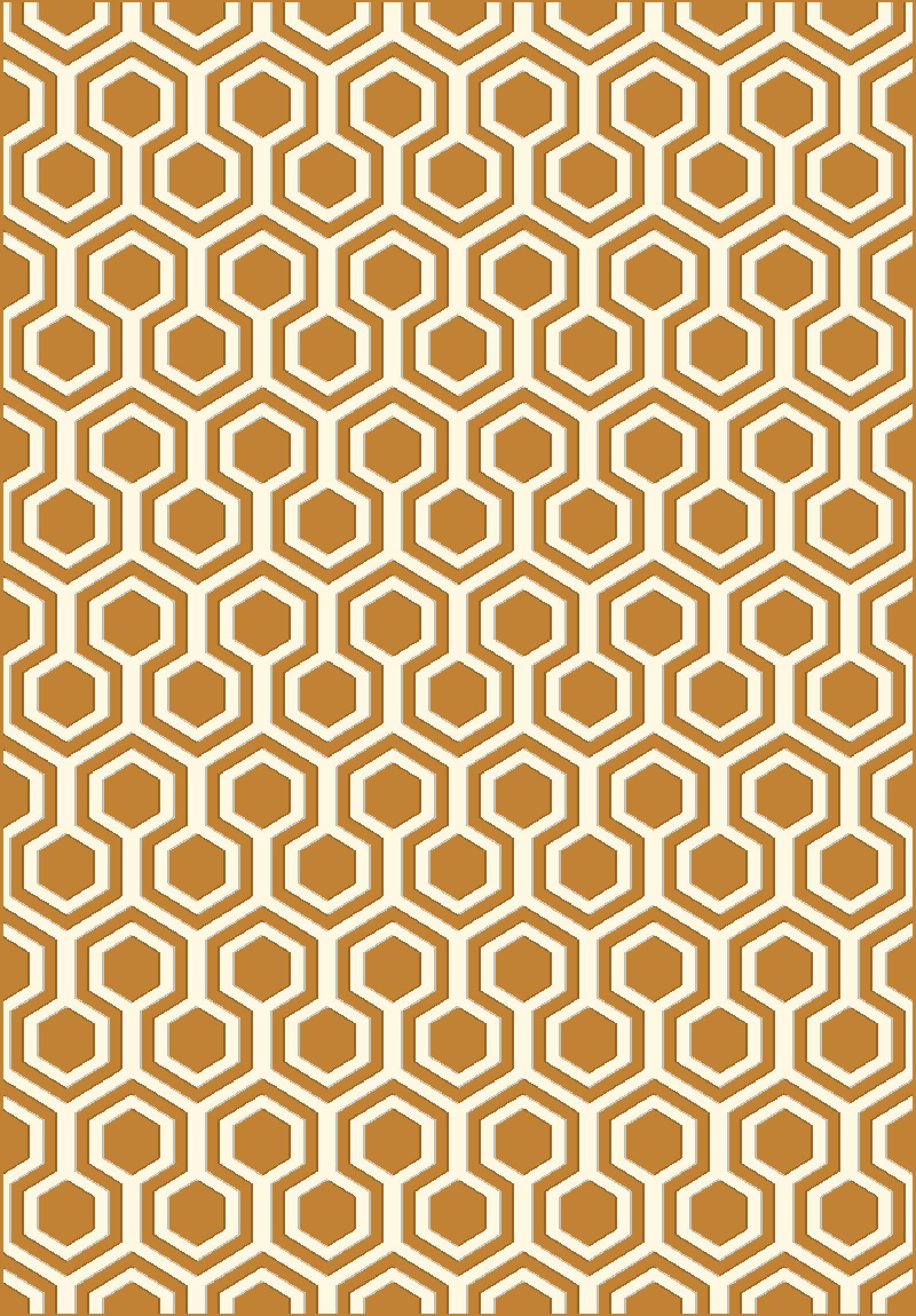 Trend Orange Geometric Area Rug Rug Size: Rectangle 6'7