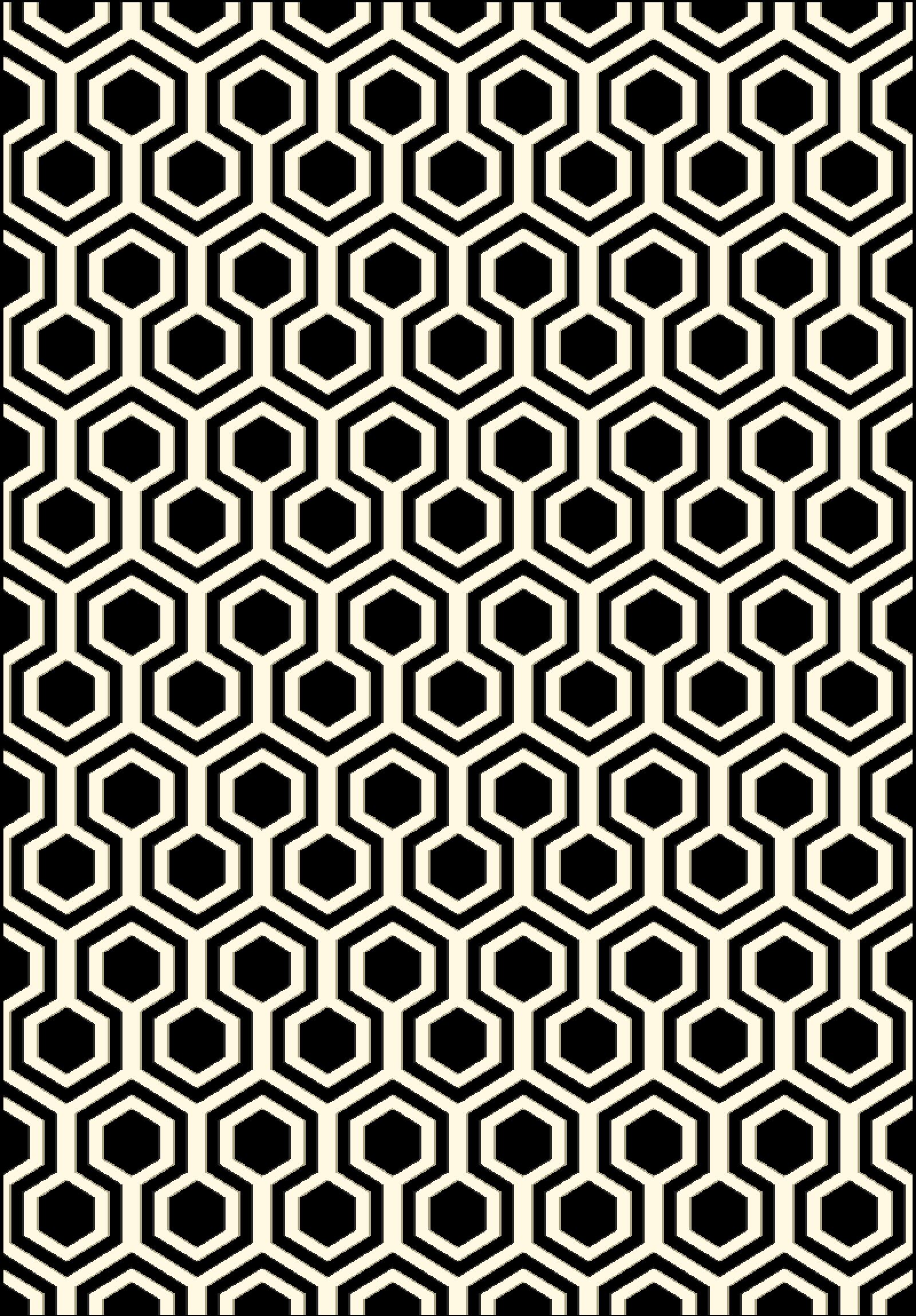 Trend Black Geometric Area Rug Rug Size: Rectangle 2' x 3'7