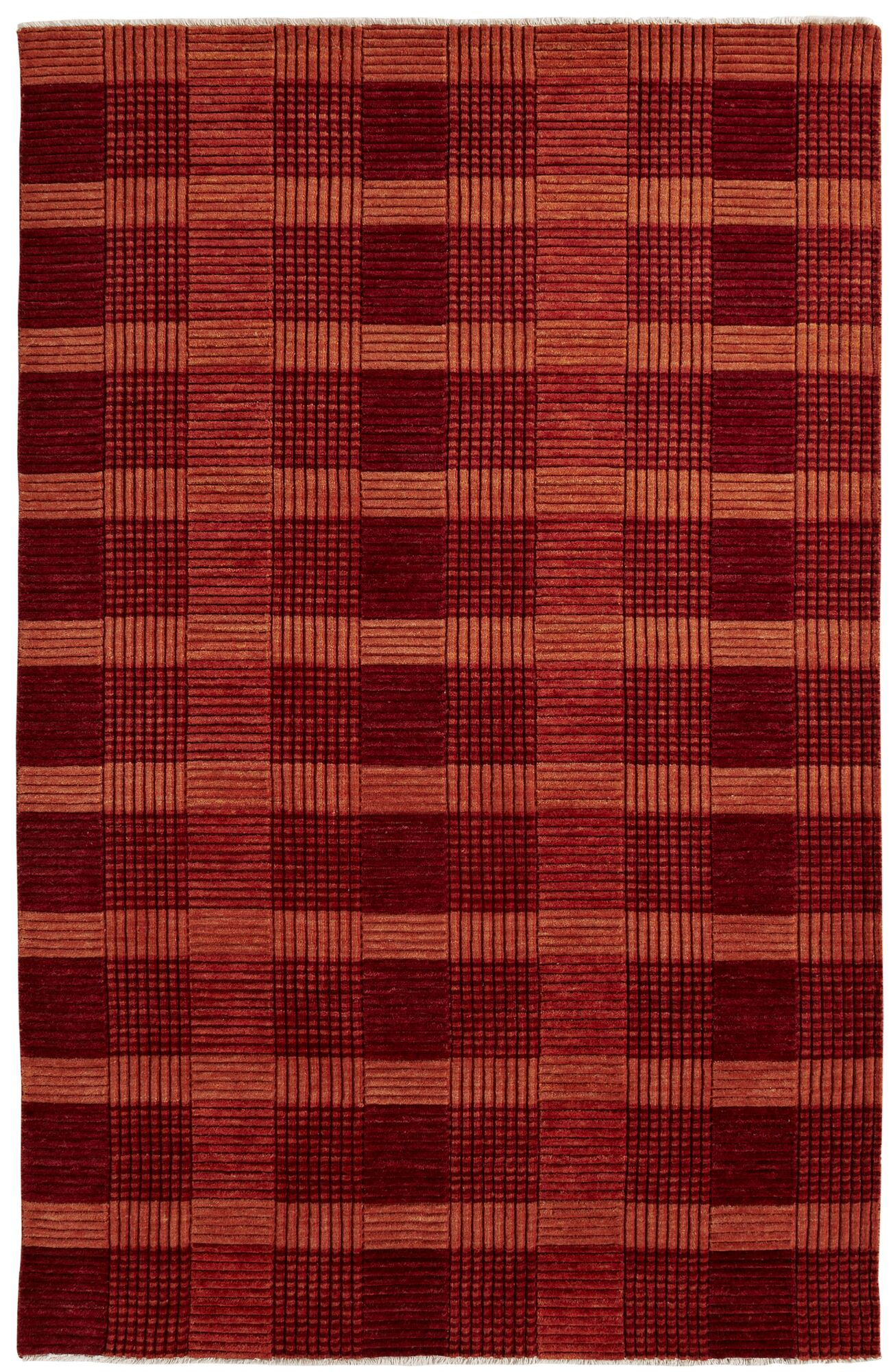 Lounge Red Area Rug Rug Size: Rectangle 2' x 4'
