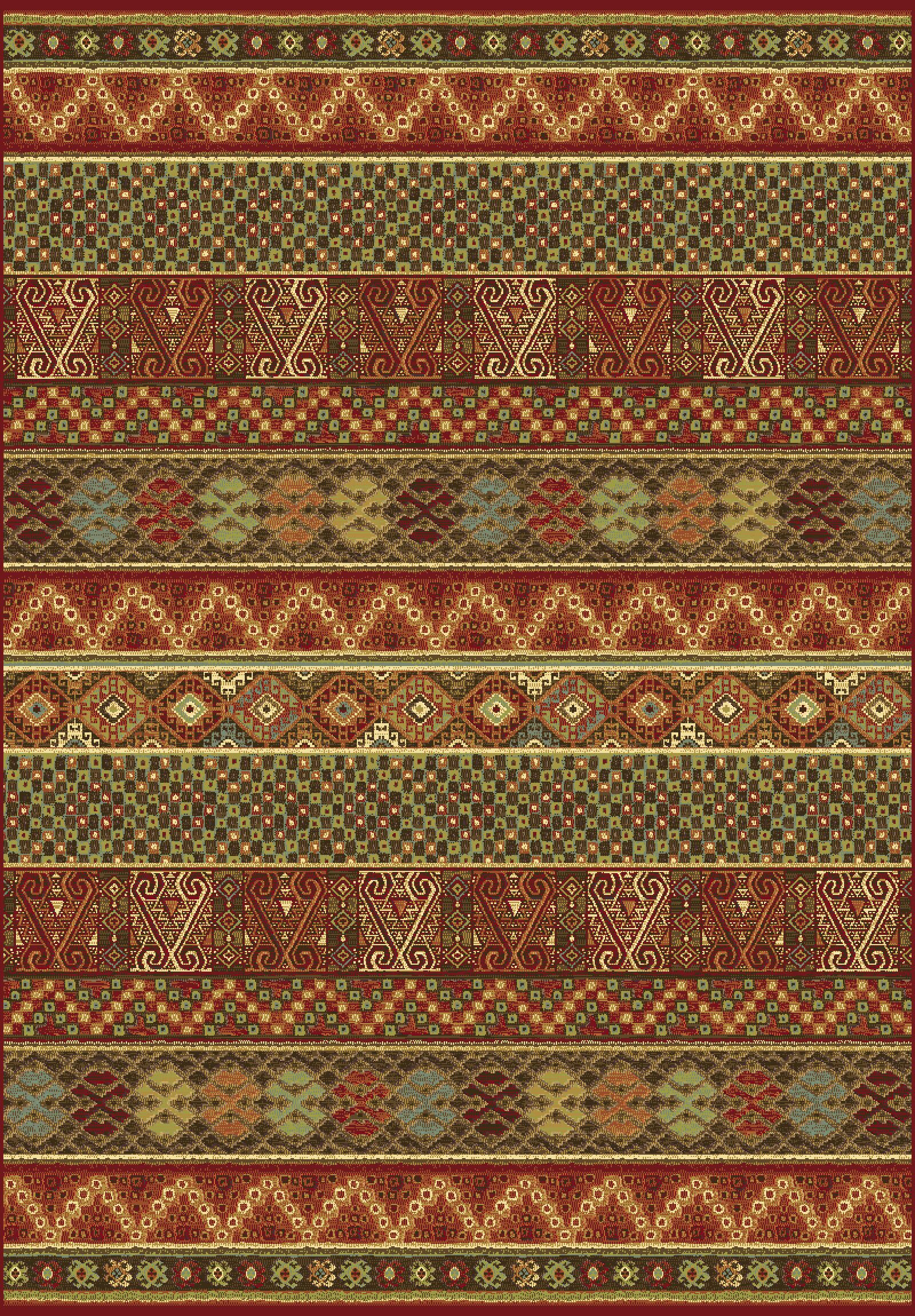 Berwick Rust/Green Area Rug Rug Size: Runner 2'2