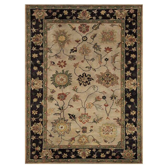 Ashtown Ivory / Eggplant Area Rug Rug Size: Rectangle 9'6