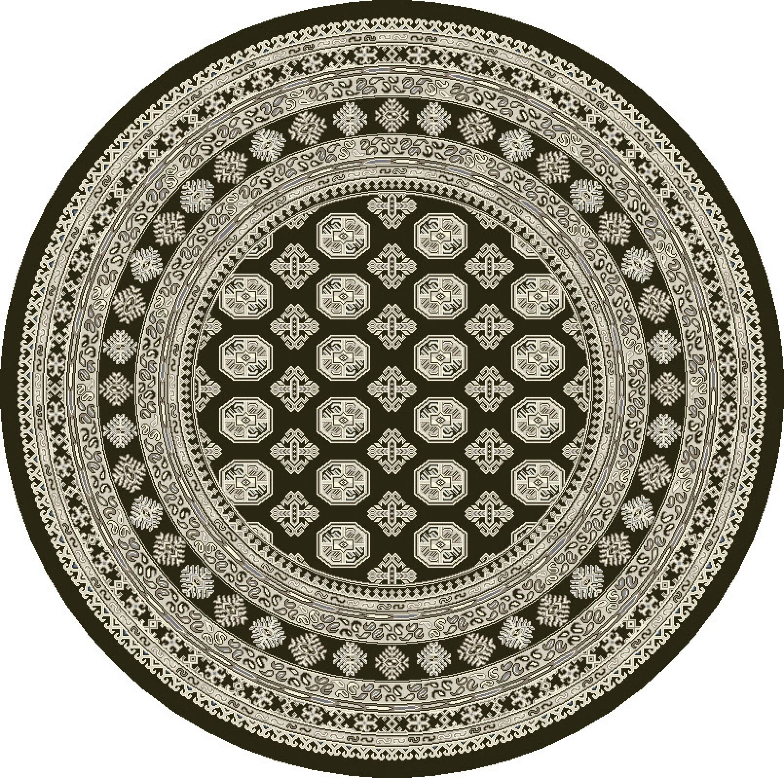 Attell Charcoal/Silver Area Rug Rug Size: Round 5'3