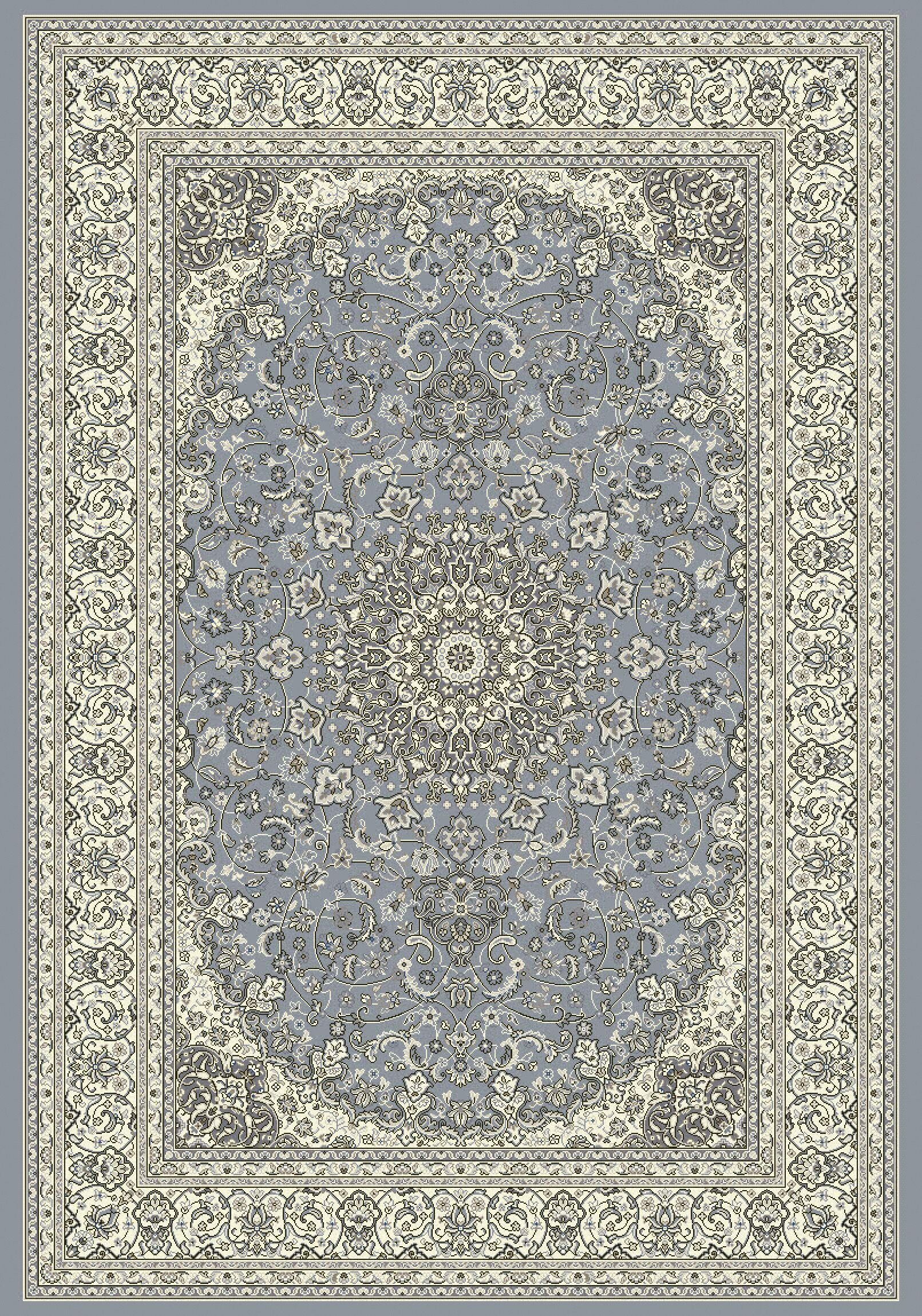 Attell Steel Blue/Cream Area Rug Rug Size: Rectangle 7'10