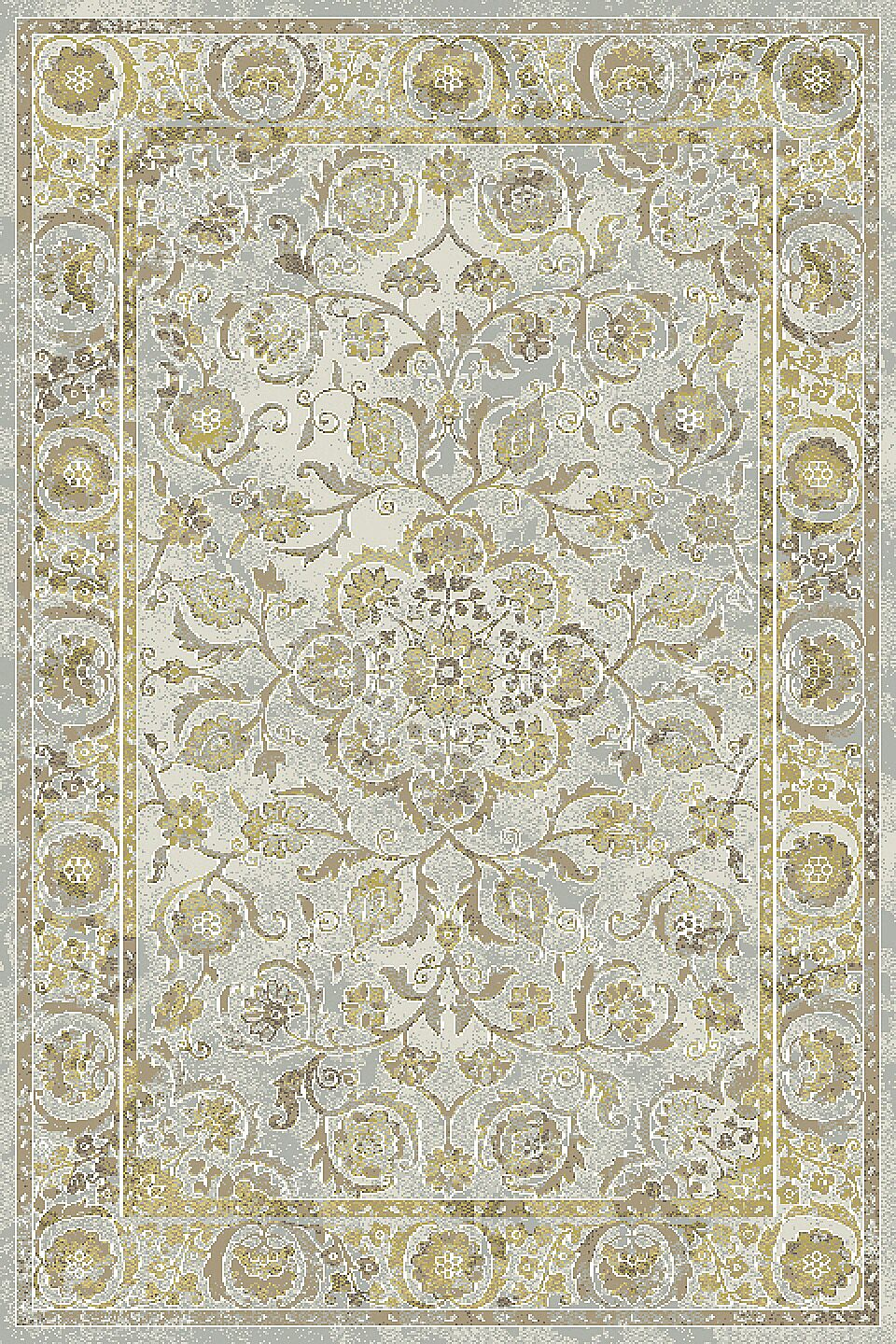 Lower West Side Light Gray/Yellow Area Rug Rug Size: Runner 2'2