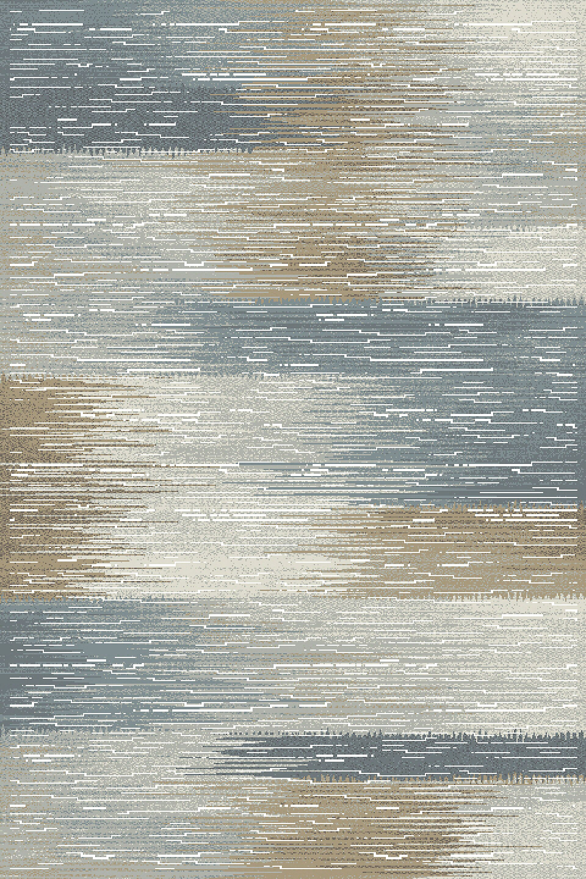 Albury Gray/Blue Area Rug Rug Size: Runner 2'2
