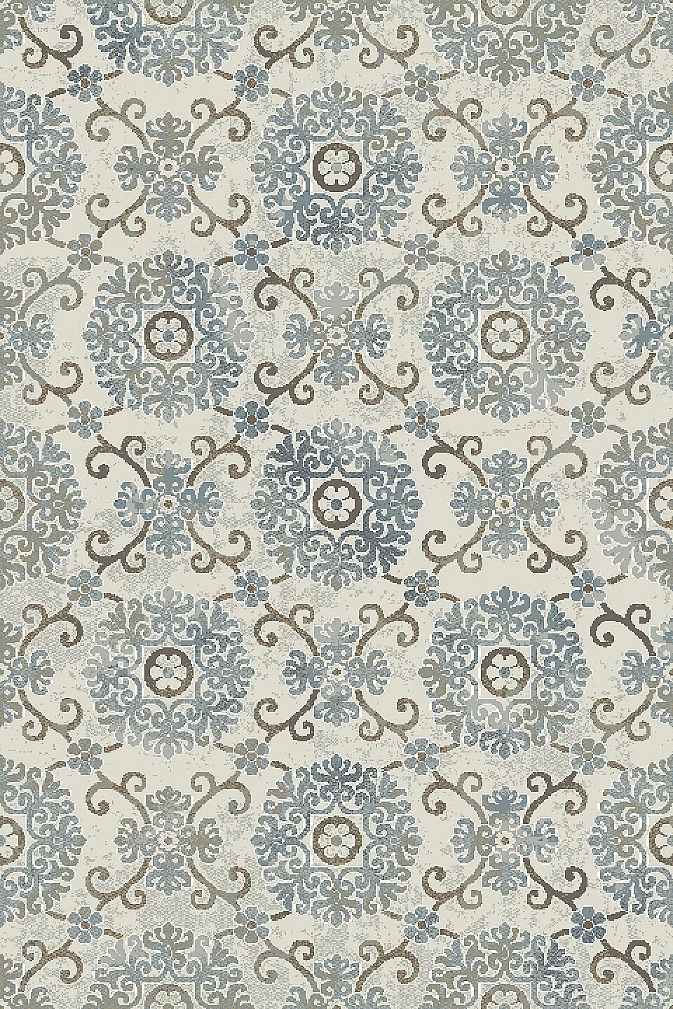 Lower West Side Ivory/Blue Area Rug Rug Size: Rectangle 7'10