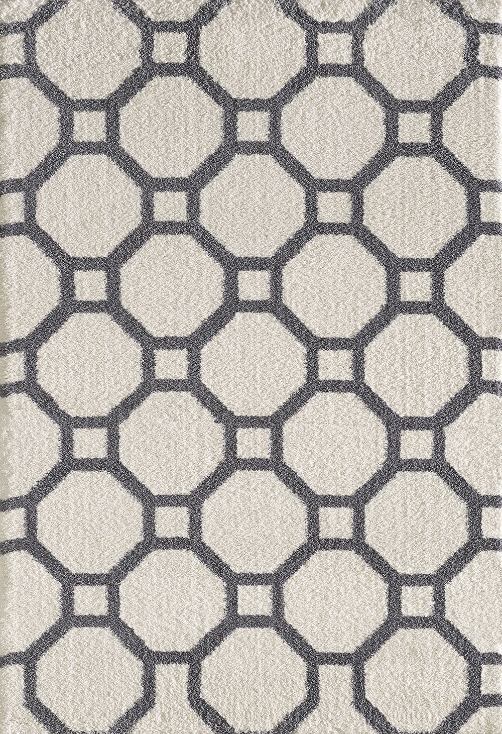 Lowes White/Gray Area Rug Rug Size: Rectangle 3'11