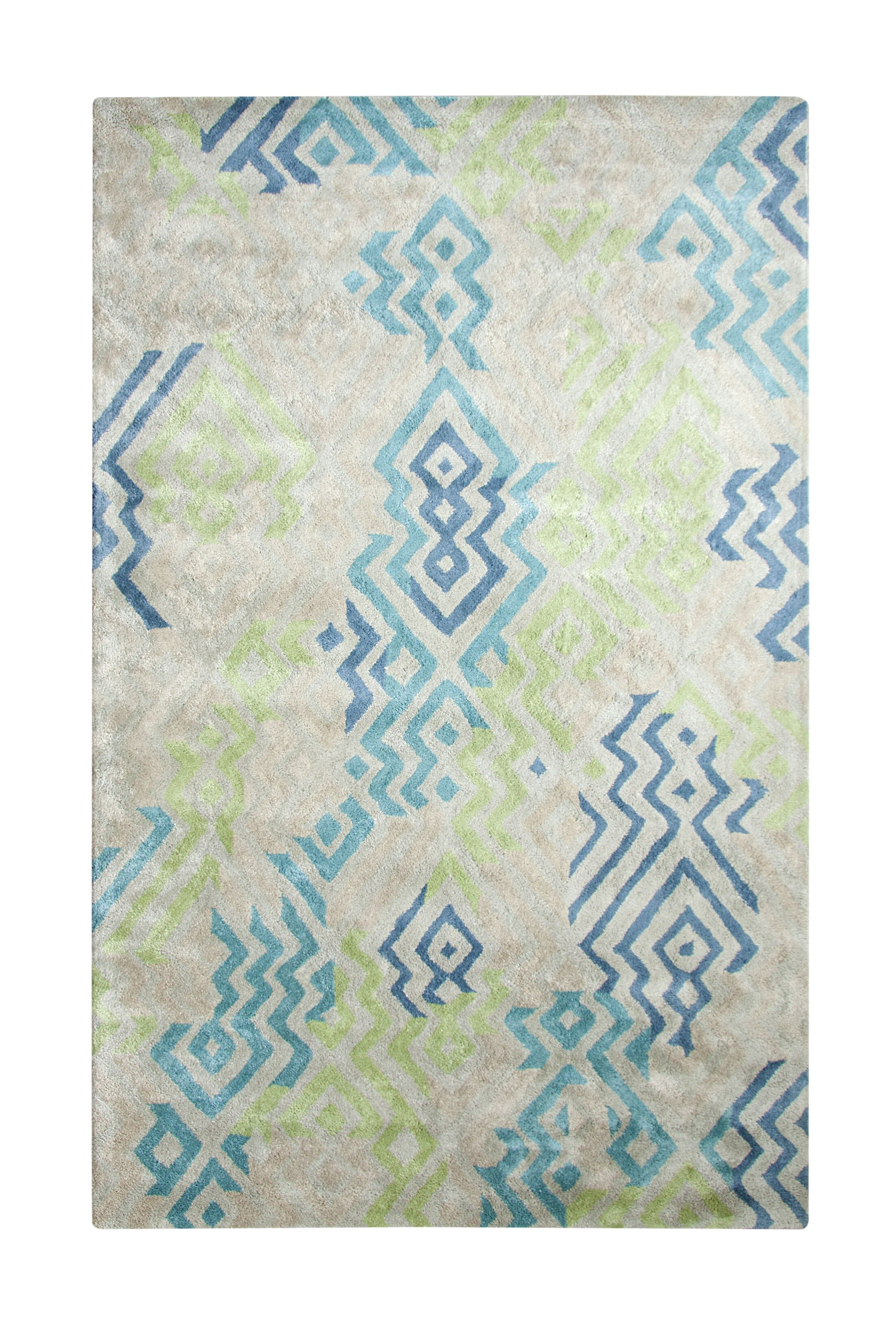 Vogue Hand Woven Blue/Gray Area Rug Rug Size: Rectangle 4' x 6'