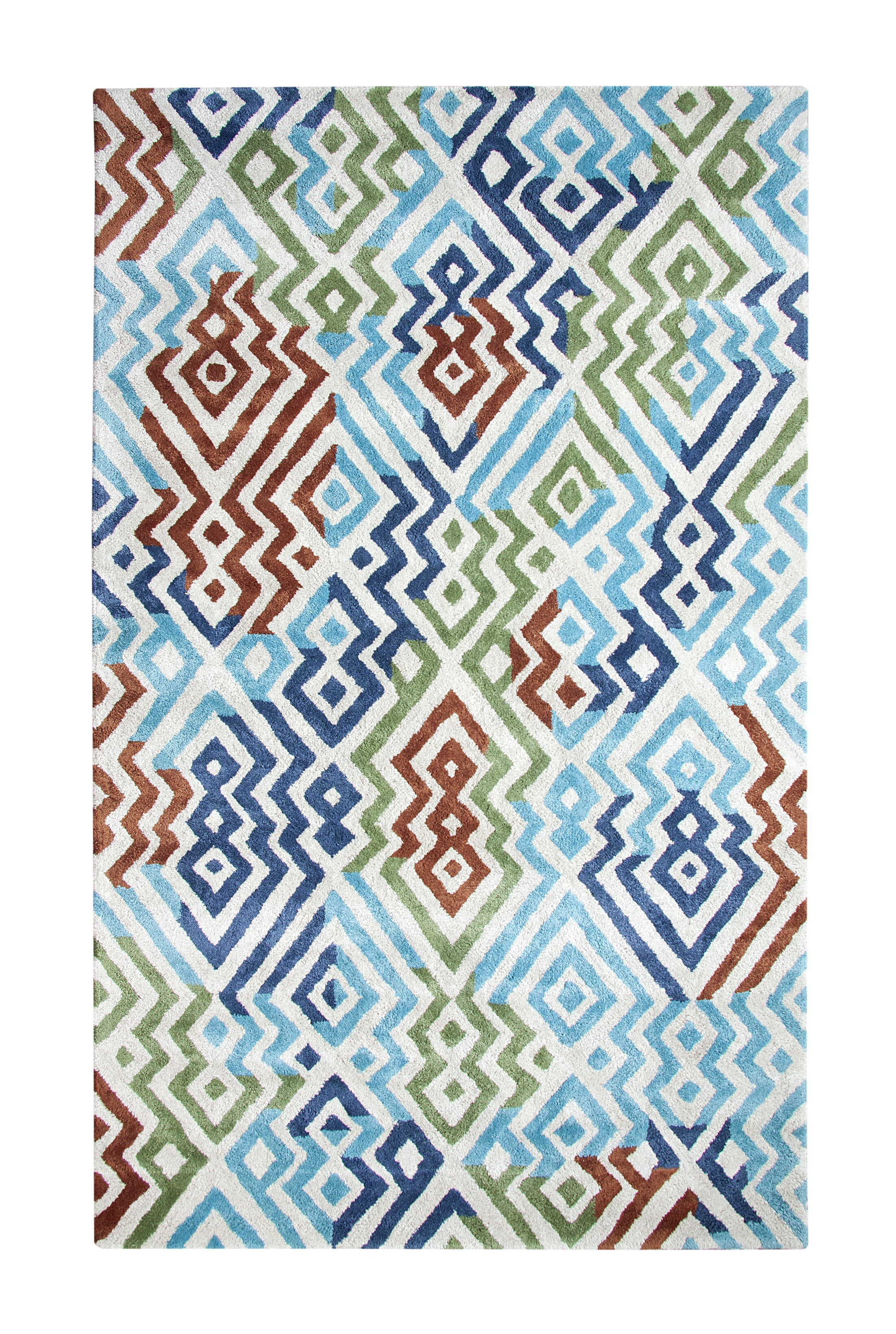 Vogue Turquoise Area Rug Rug Size: Rectangle 6'7
