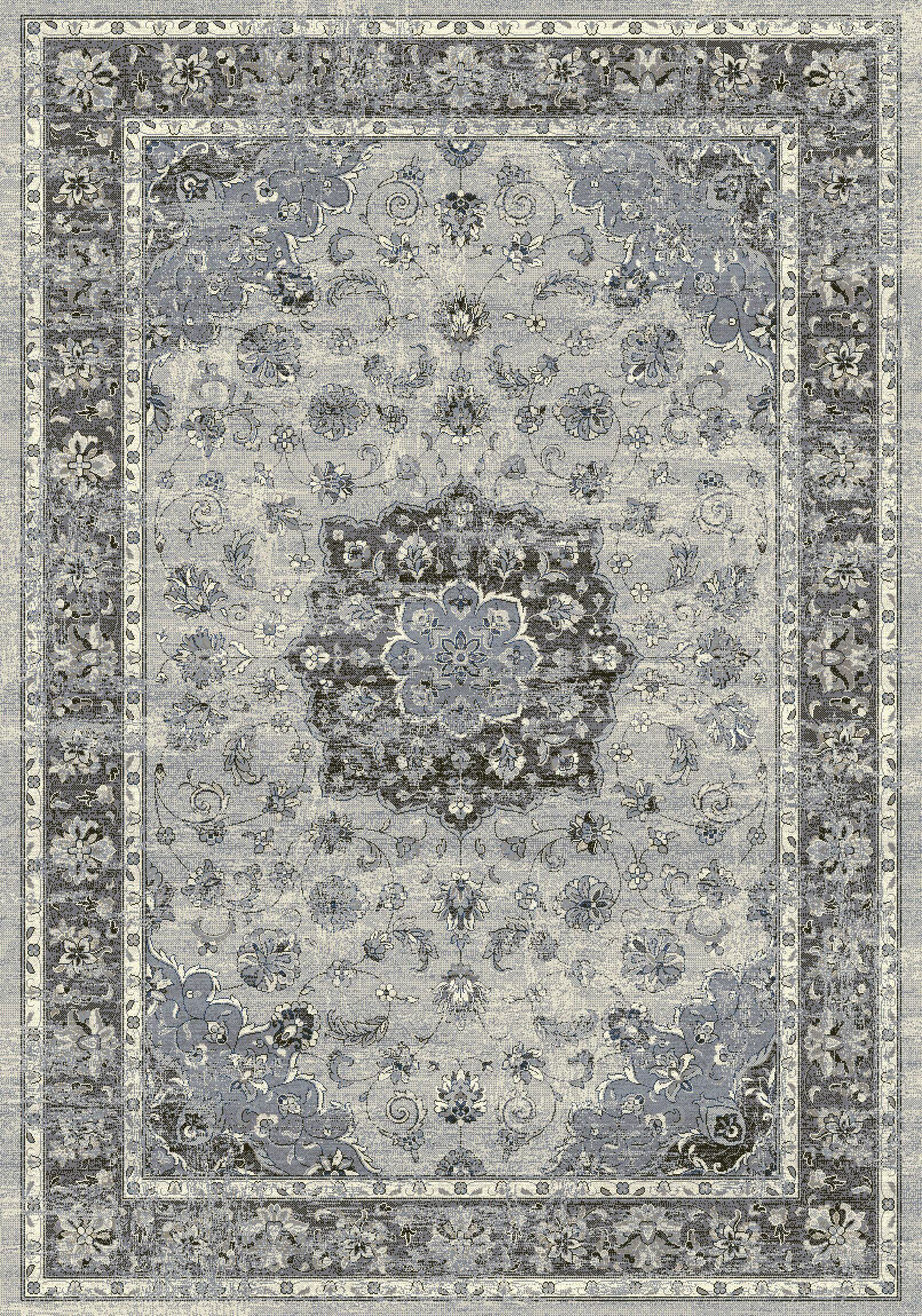 Attell Silver/Gray Area Rug Rug Size: Rectangle 6'7