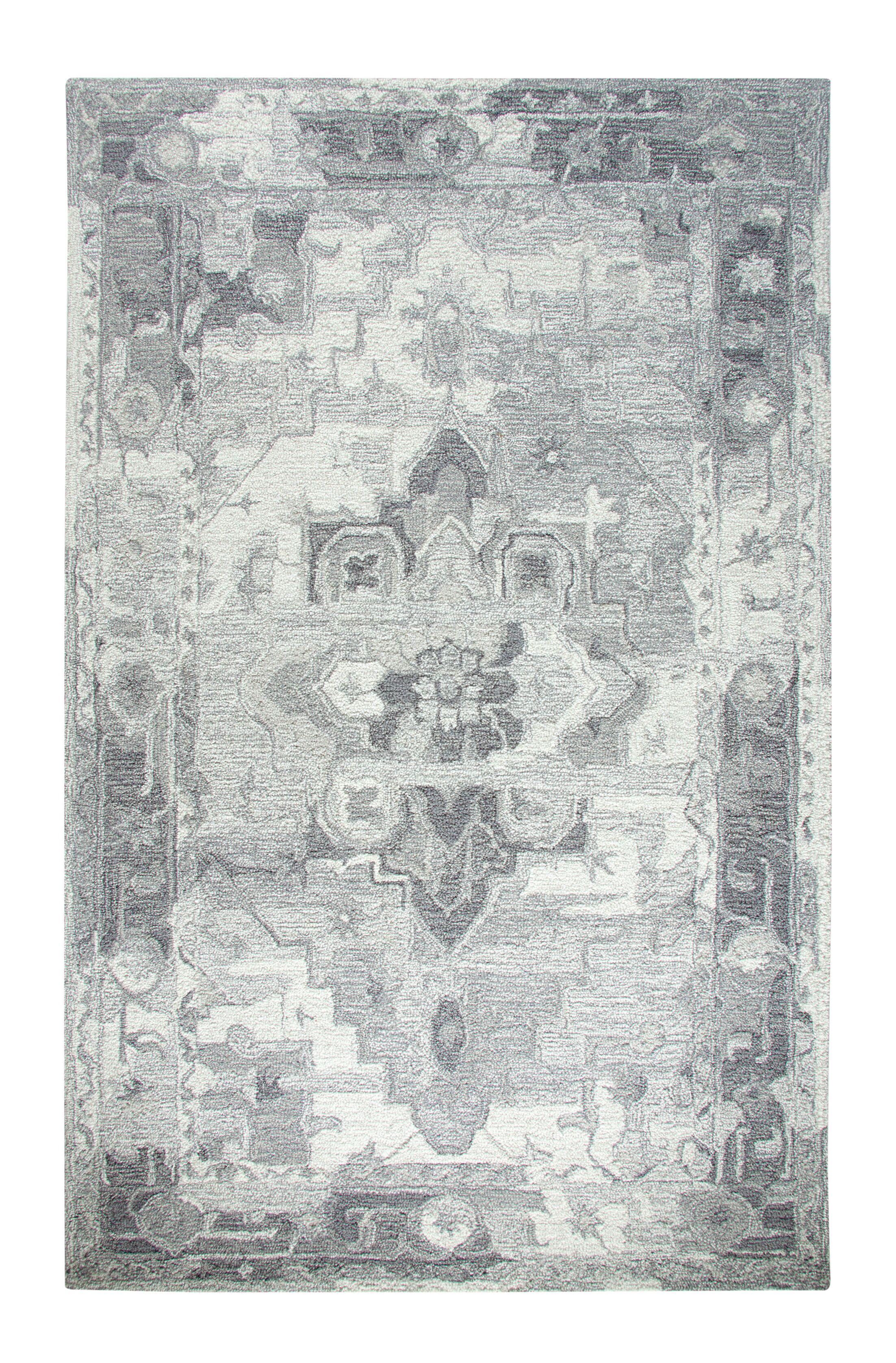 Montoya Gray Area Rug Rug Size: Rectangle 5' x 8'