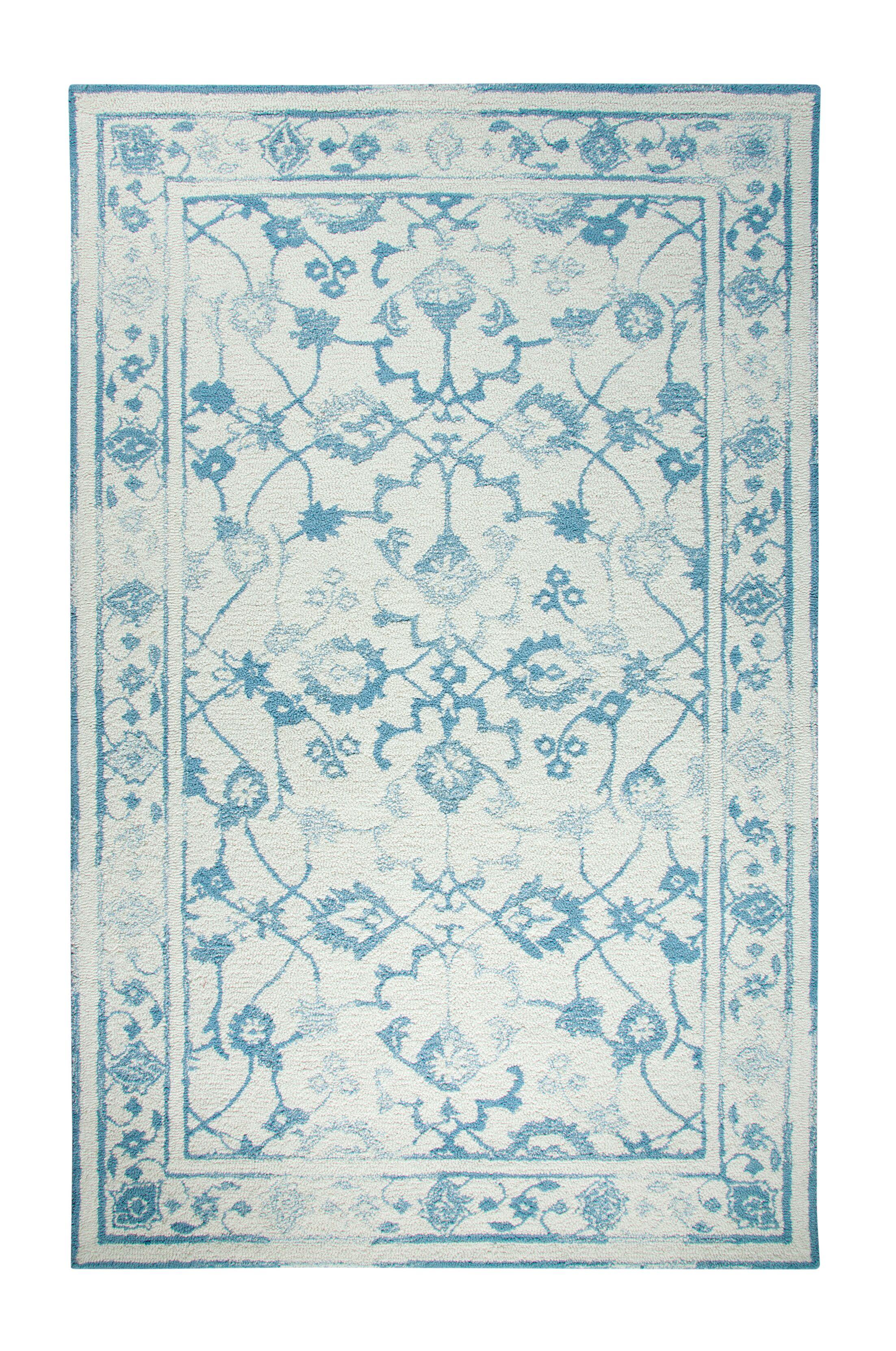 Montoya Ivory/Light Blue Area Rug Rug Size: Rectangle 2' x 4'