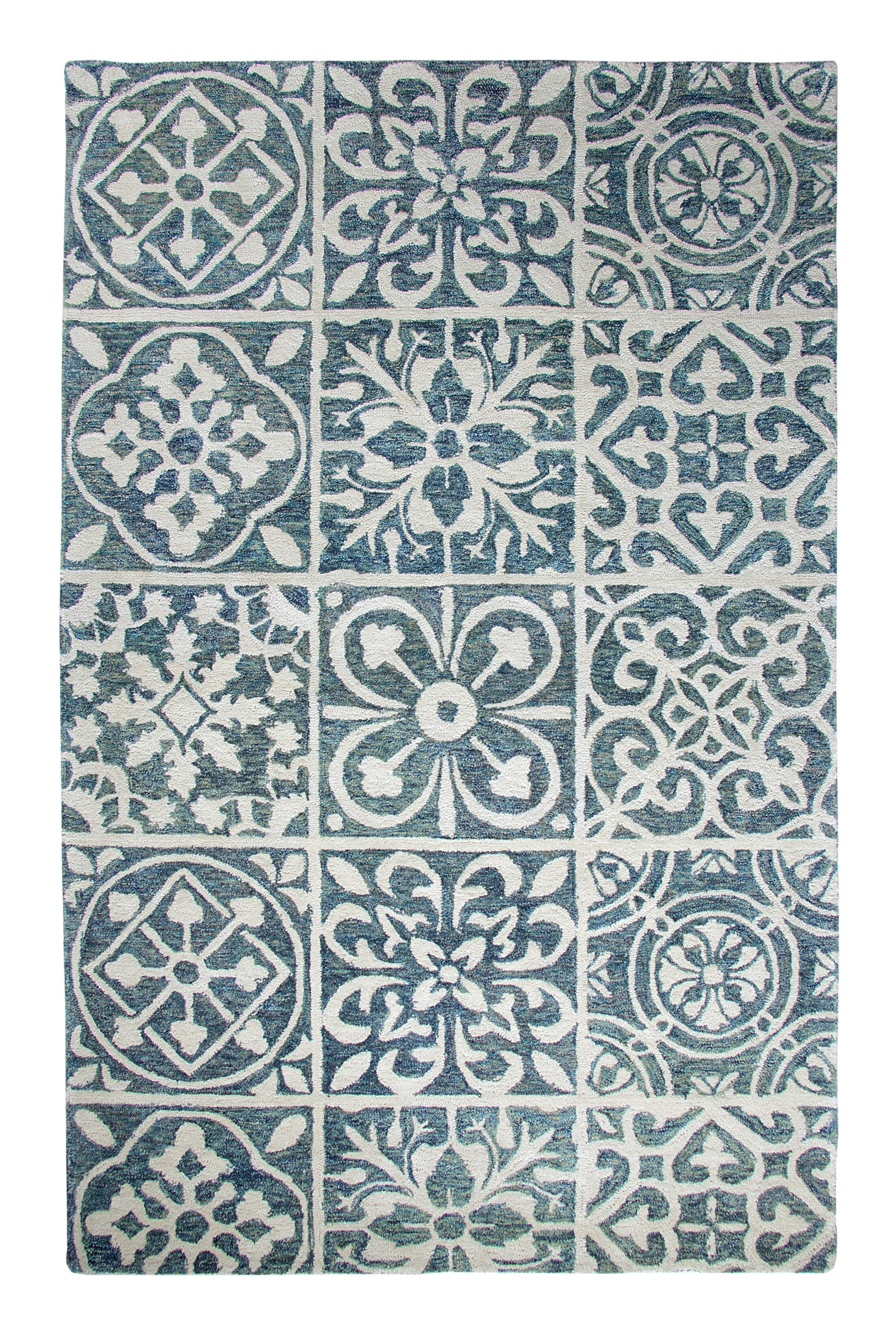 Casual Blue Area Rug Rug Size: Rectangle 8' x 11'