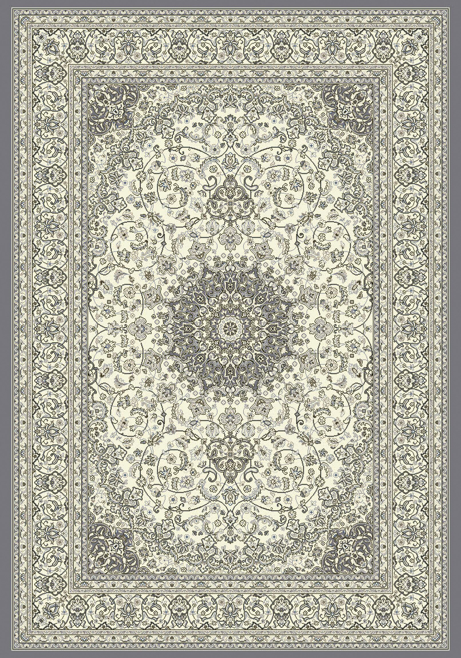 Attell Oriental Cream/Gray Area Rug Rug Size: Rectangle 6'7