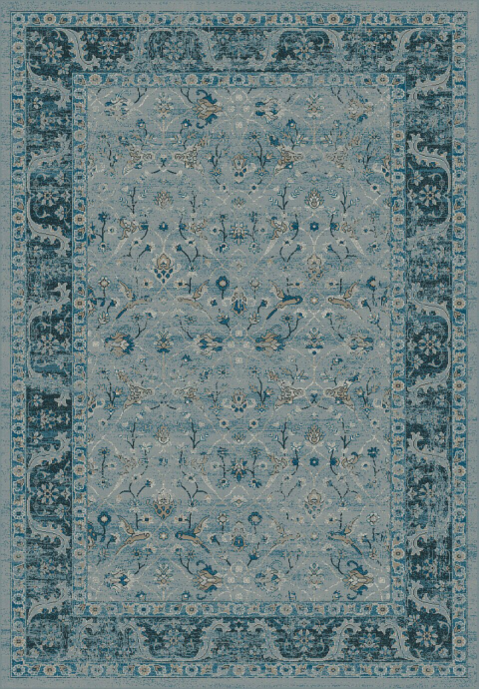 Deadra Blue Area Rug Rug Size: Rectangle 6'7