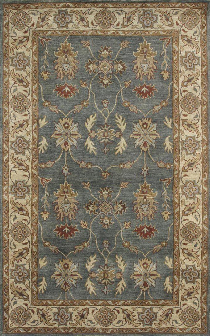 Ashtown Blue / Ivory Area Rug Rug Size: Rectangle 9'6