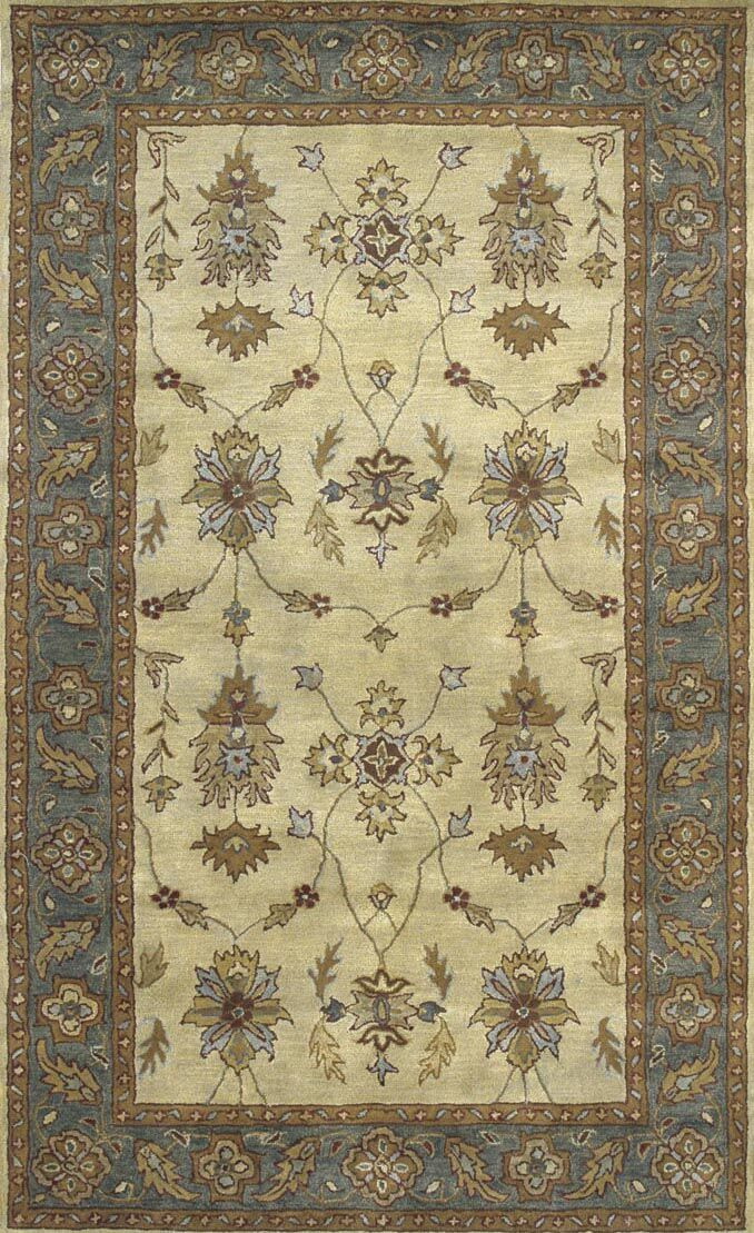 Ashtown Ivory / Blue Area Rug Rug Size: Rectangle 9'6