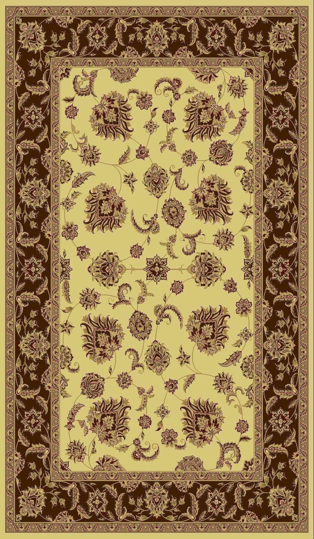 Atterbury Cream/Brown Rug Rug Size: Rectangle 7'10