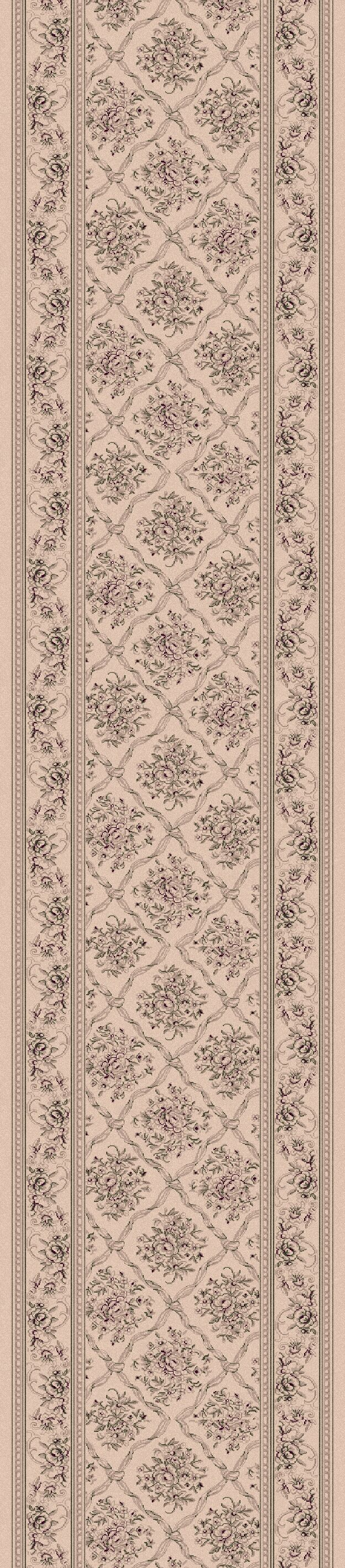 Atterbury Checked Ivory Rug Rug Size: Runner 2'2