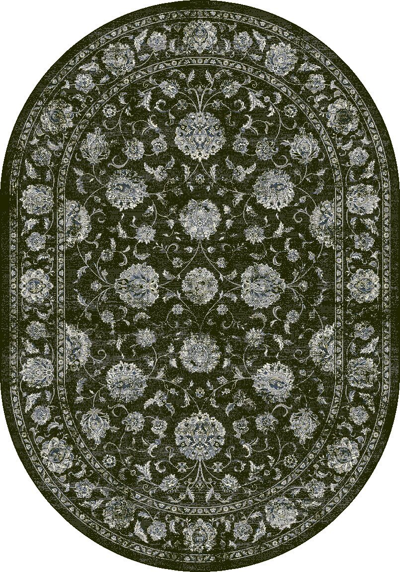 Attell Charcoal/Silver Area Rug Rug Size: Oval 5'3