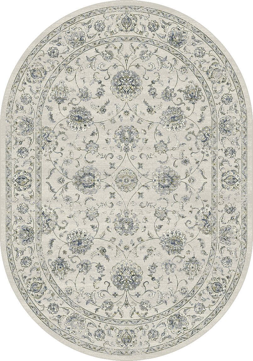 Attell Cream Area Rug Rug Size: Oval 6'7