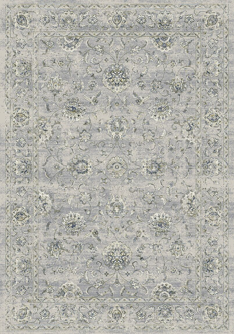 Attell Oval Silver/Gray Area Rug Rug Size: Rectangle 6'7