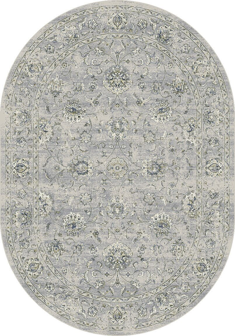 Attell Oval Silver/Gray Area Rug Rug Size: Oval 2'7