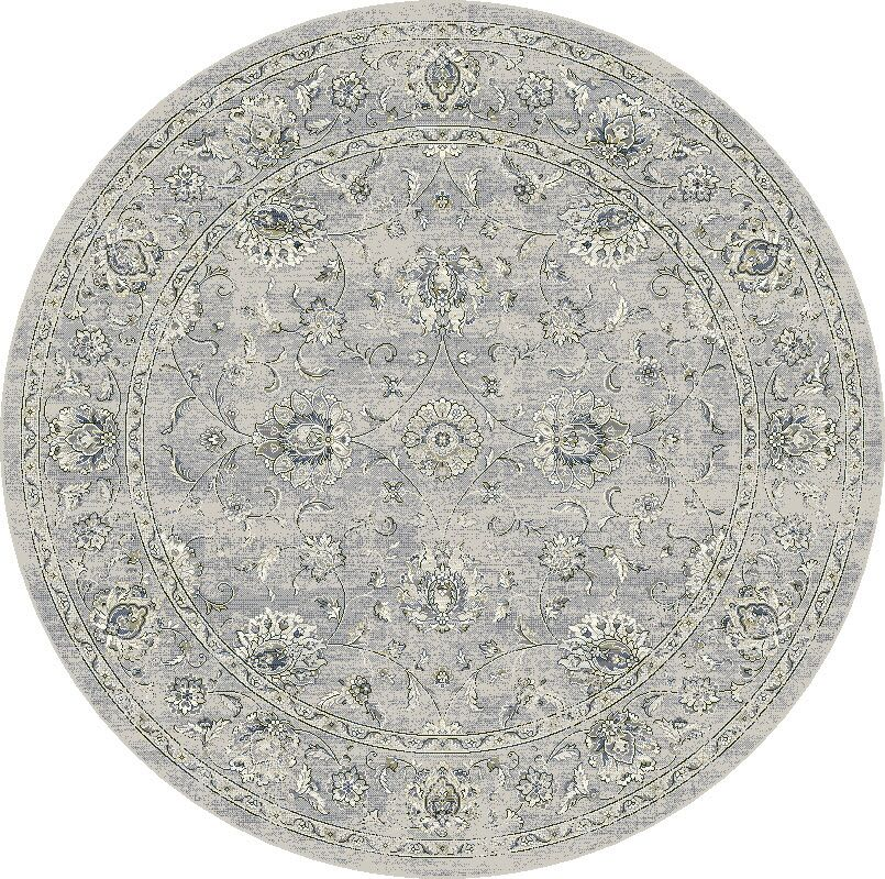 Attell Oval Silver/Gray Area Rug Rug Size: Round 5'3