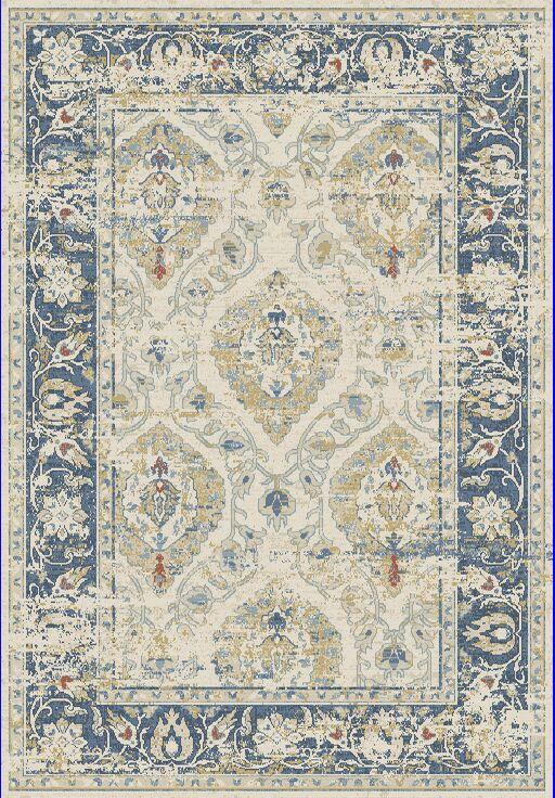 Essence Ivory/Blue Area Rug Rug Size: Rectangle 3'11