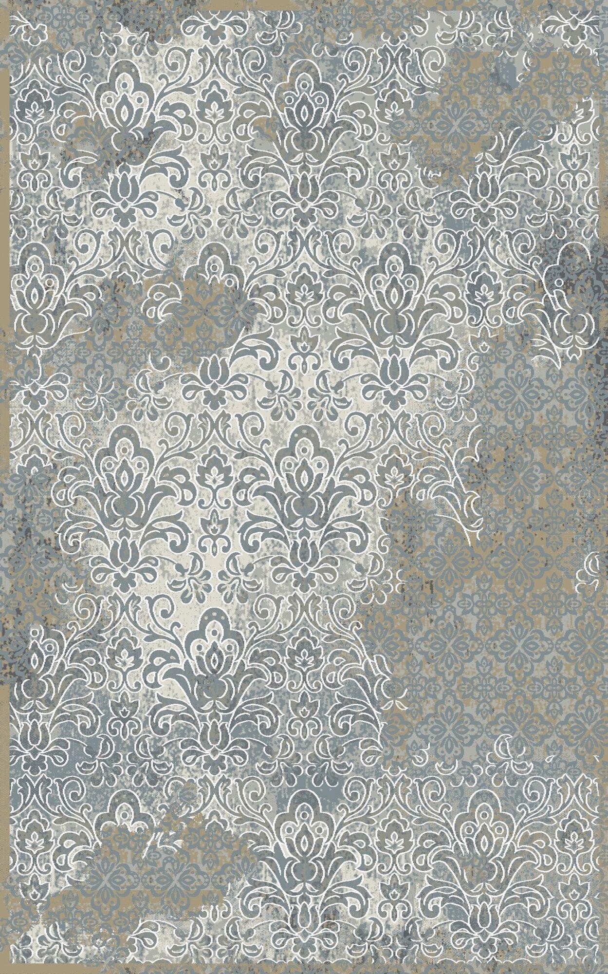 Edgao Gray/Beige Area Rug Rug Size: Rectangle 9'2