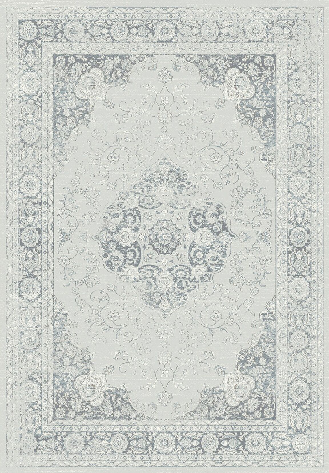 Jewett Gray Area Rug Rug Size: Rectangle 6'7