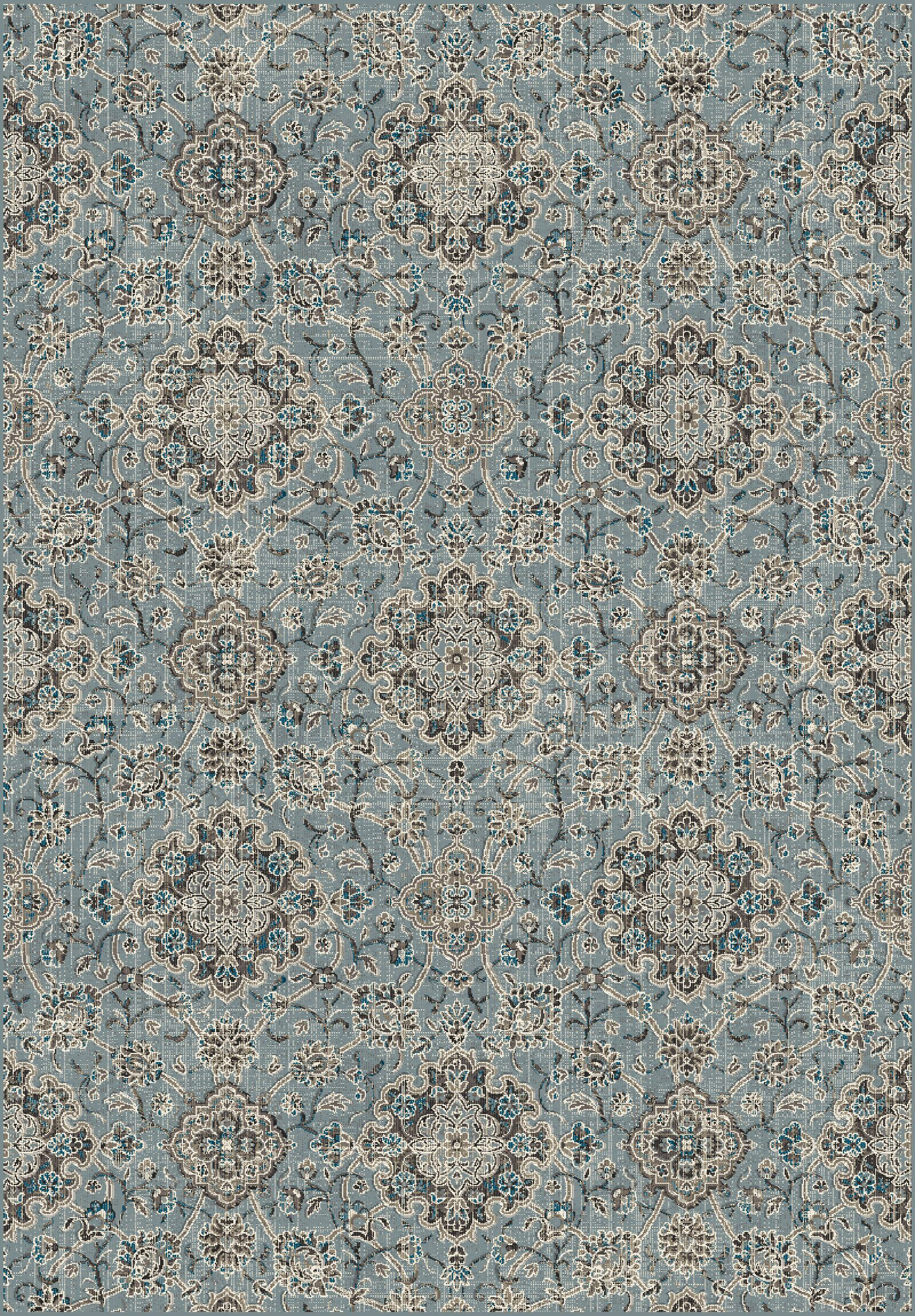 Carnbore Blue/Taupe Area Rug Rug Size: Rectangle 7'10