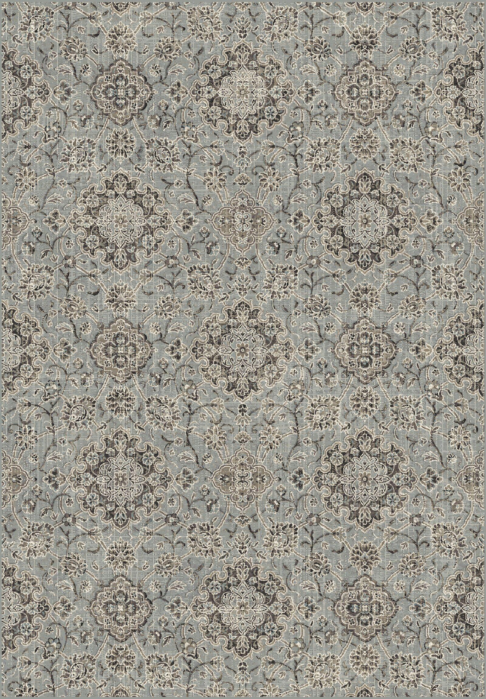 Carnbore Silver/Blue Area Rug Rug Size: Rectangle 3'6