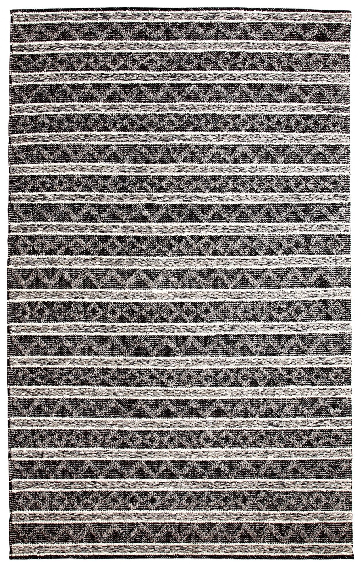 Edwa Hand-Woven Charcoal/Silver Area Rug Rug Size: Rectangle 2' x 4'