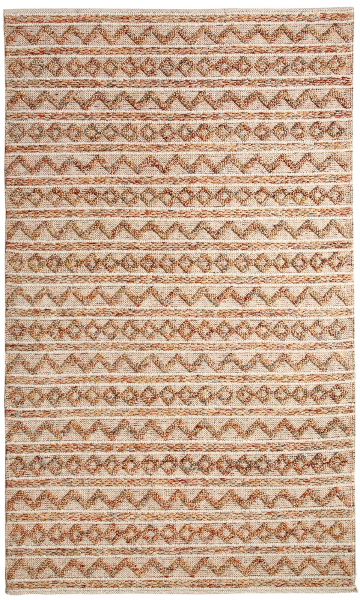 Edwa Hand-Woven Ivory Area Rug Rug Size: Rectangle 5' x 8'