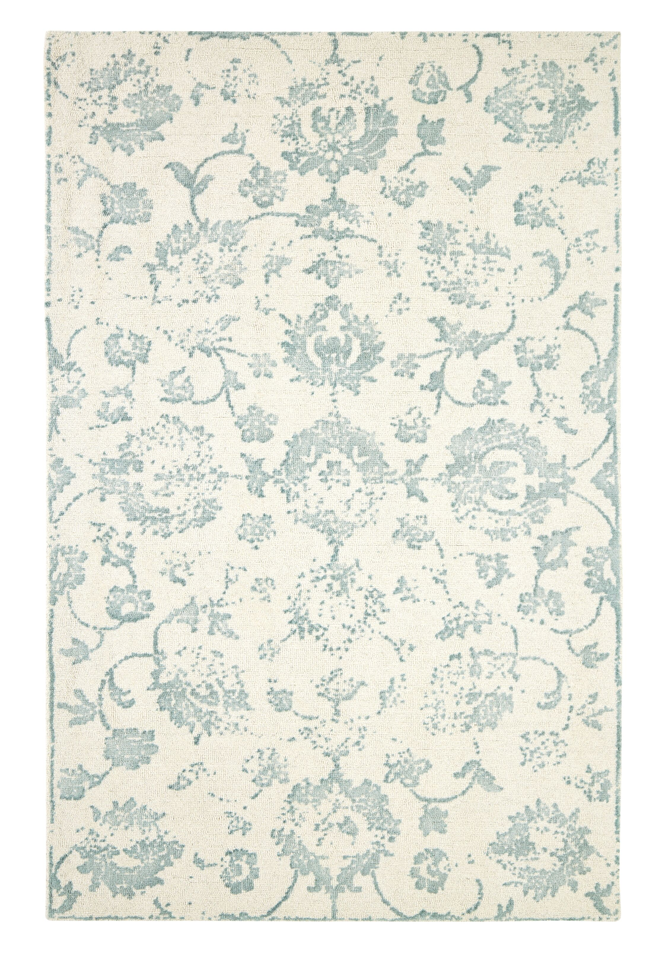 Gerry Hand-Woven Beige/Green Area Rug Rug Size: Rectangle 5' x 8'