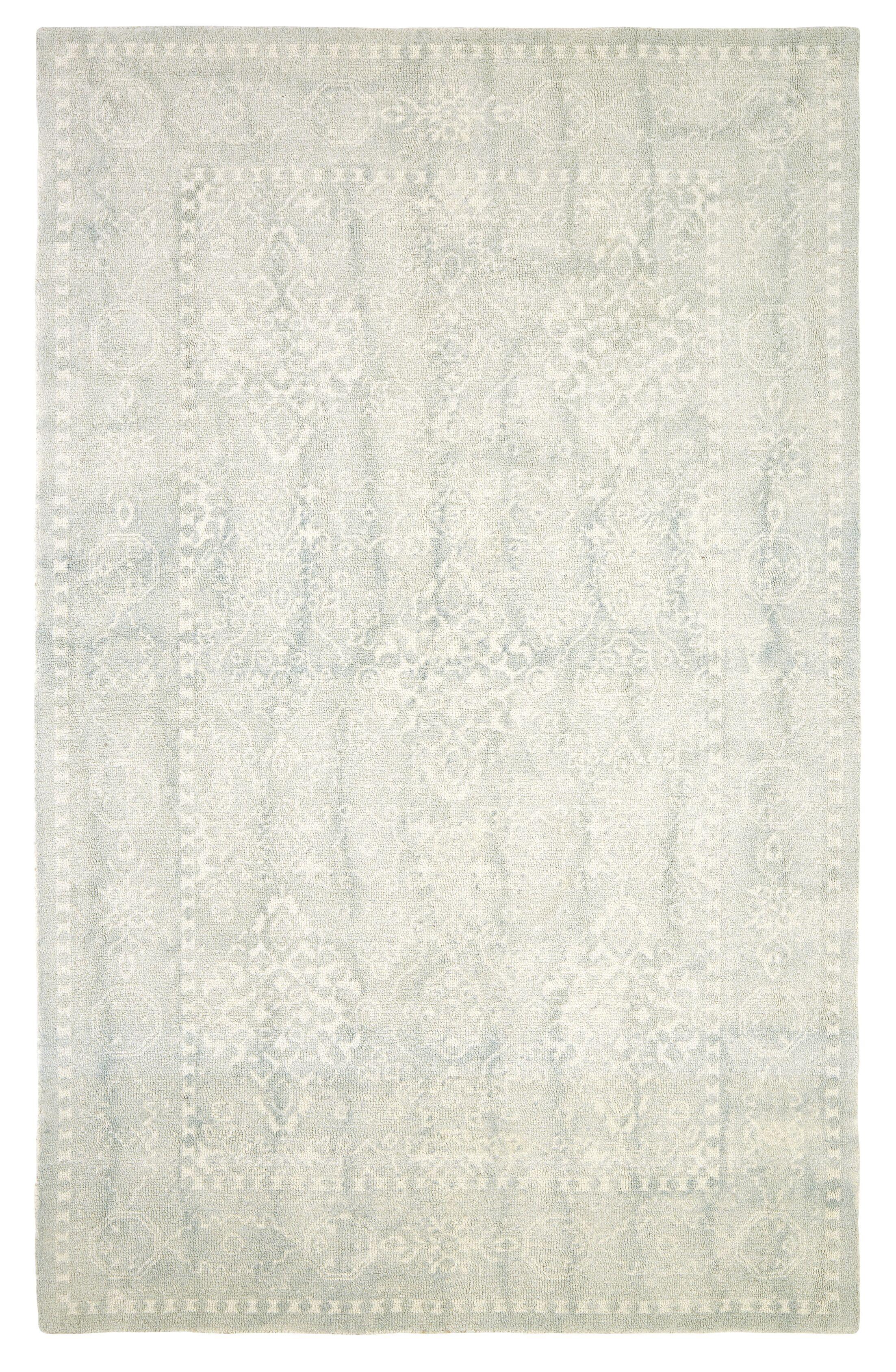 Anamaria Hand-Tufted Light Blue Area Rug Rug Size: Rectangle 5' x 8'