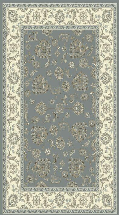 Atterbury Light Blue/Ivory Area Rug Rug Size: Rectangle 9'2