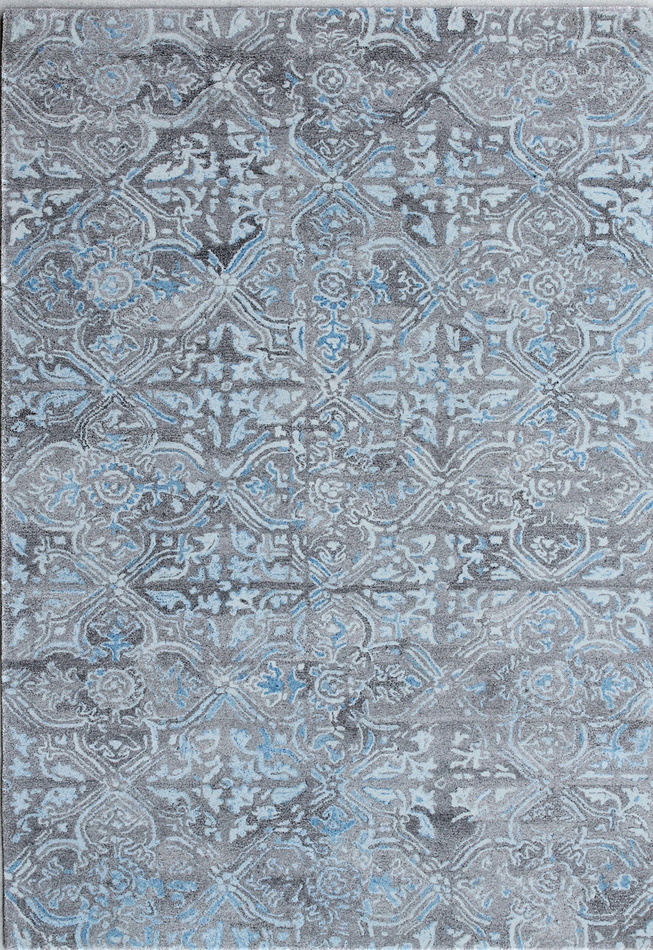 Correa Hand-Woven Gray/Blue Area Rug Rug Size: Rectangle 5' x 8'