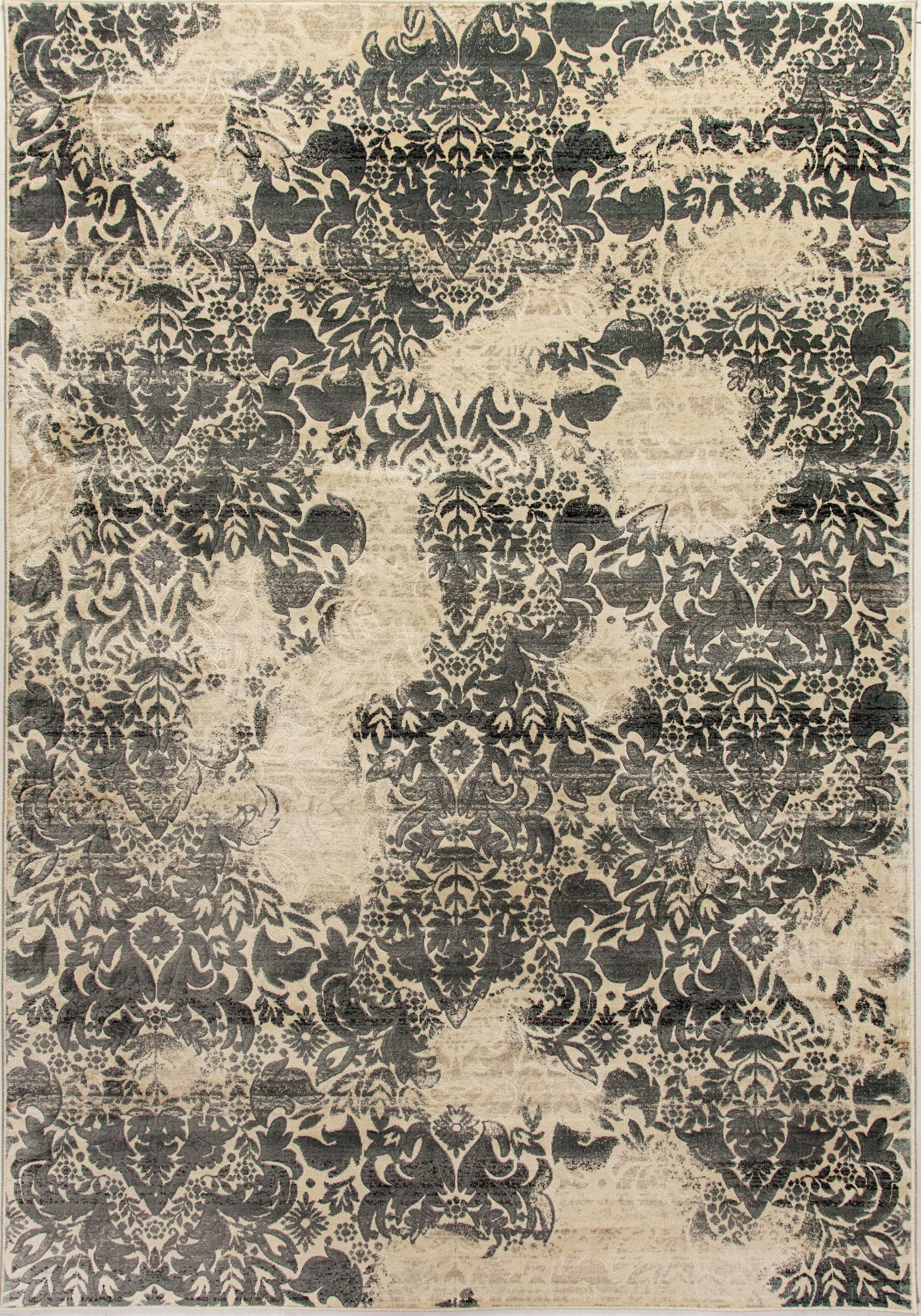 Edgehill Beige/Dark Gray Area Rug Rug Size: Rectangle 9'2