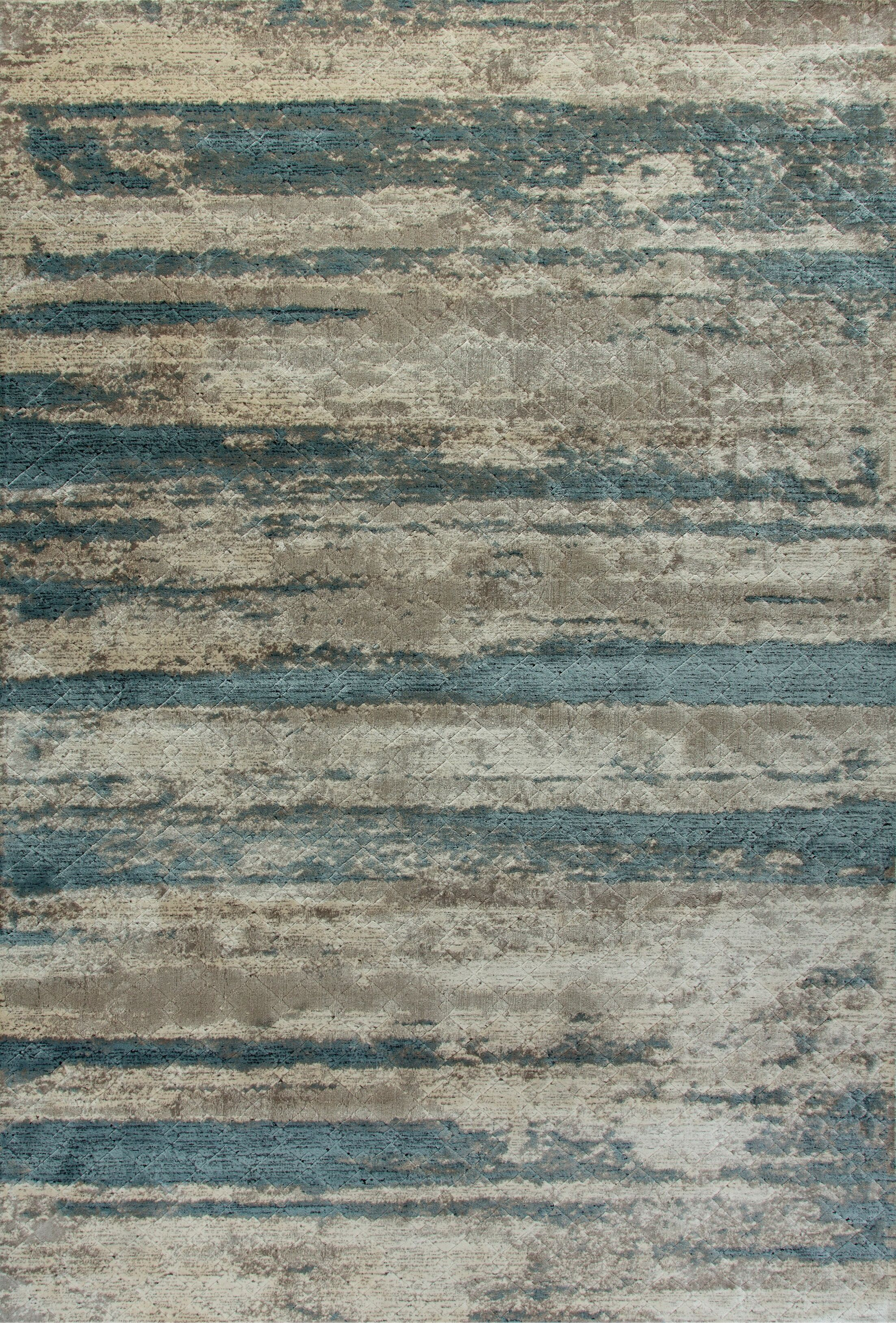 Edgehill Cream/Blue Area Rug Rug Size: Rectangle 2' x 3'5