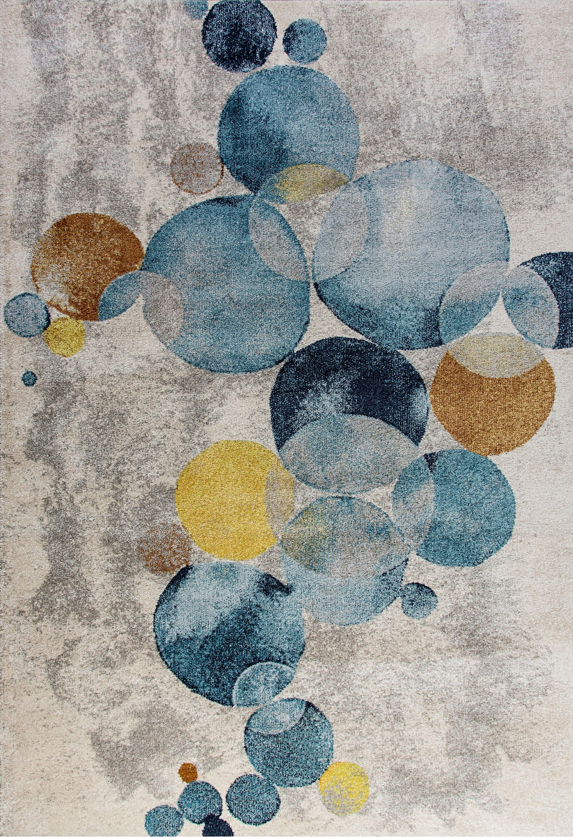 Adams Blue/Gray Area Rug Rug Size: Rectangle 2' x 3'6