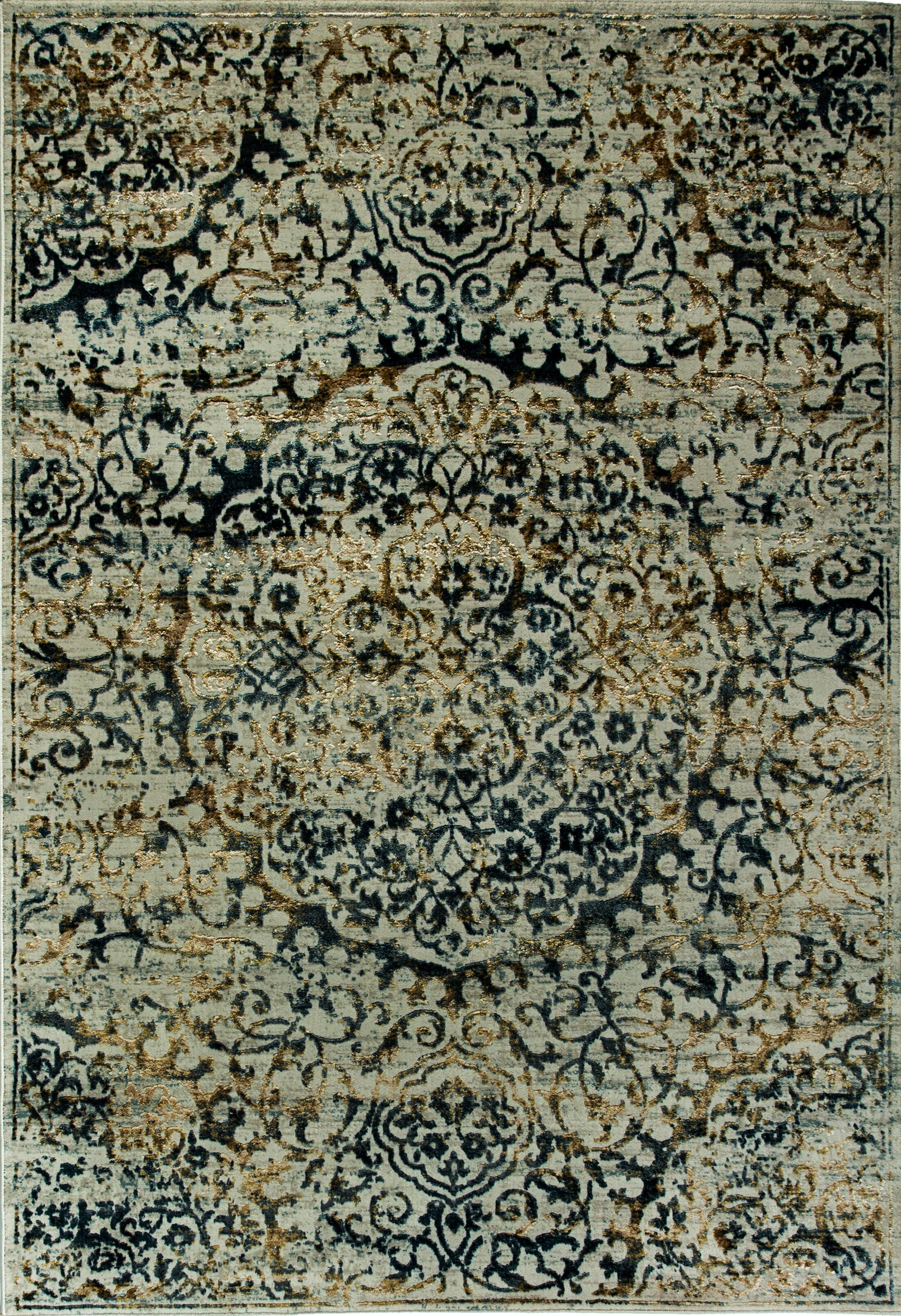 Irene Blue Area Rug Rug Size: Rectangle 9'2
