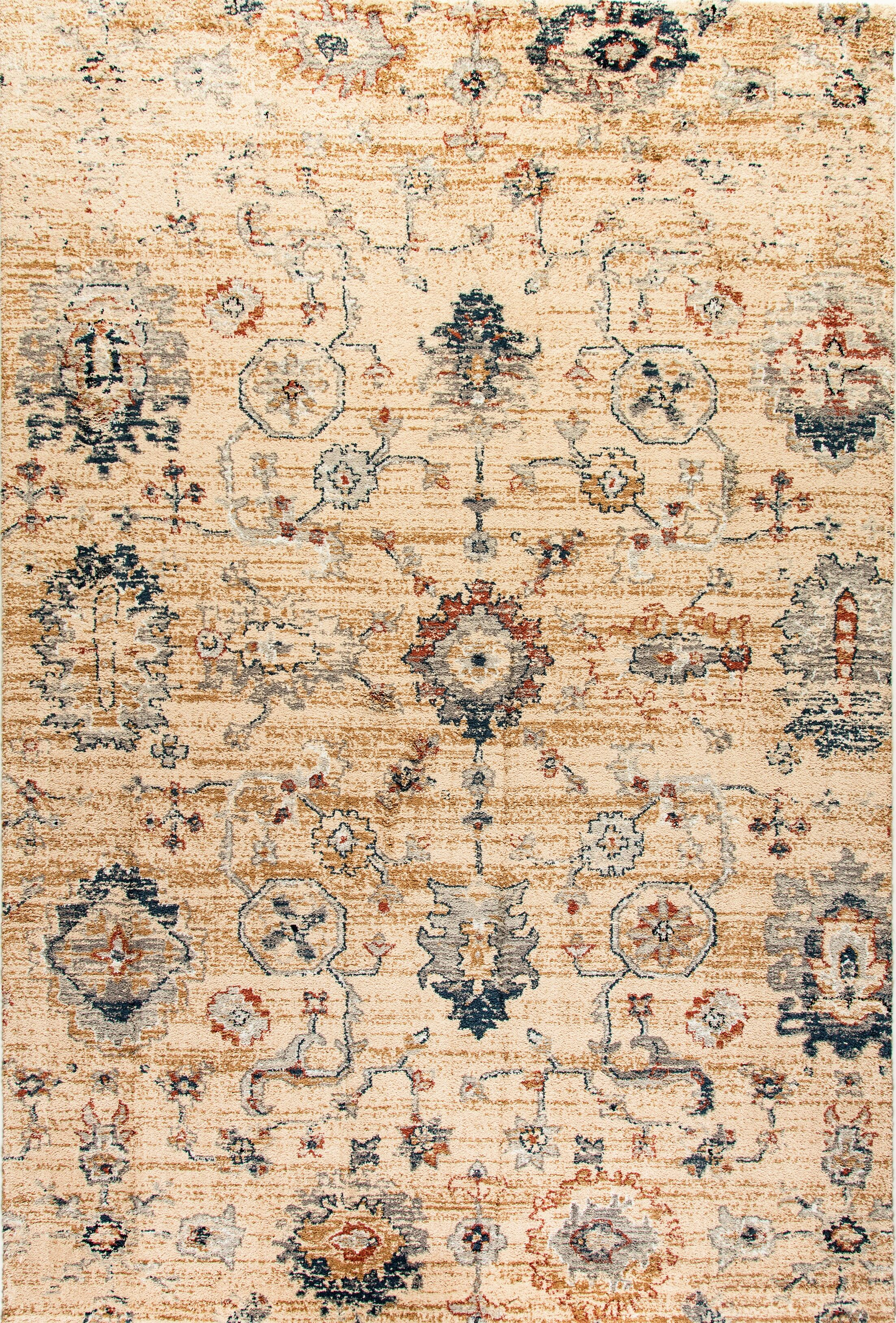 Precious Tan Area Rug Rug Size: Rectangle 5'3