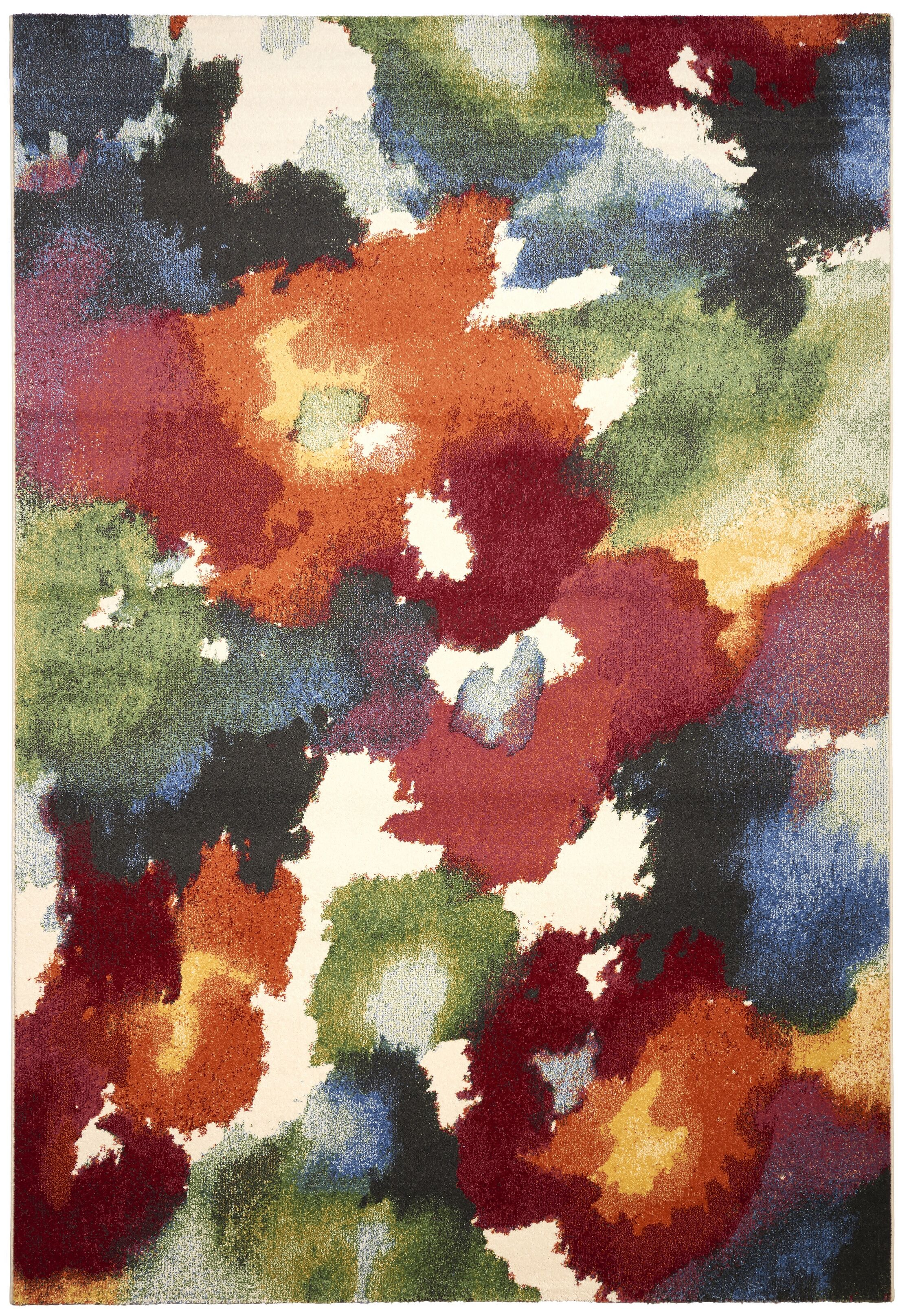 Martin Red/Green Area Rug Rug Size: Rectangle 3'11