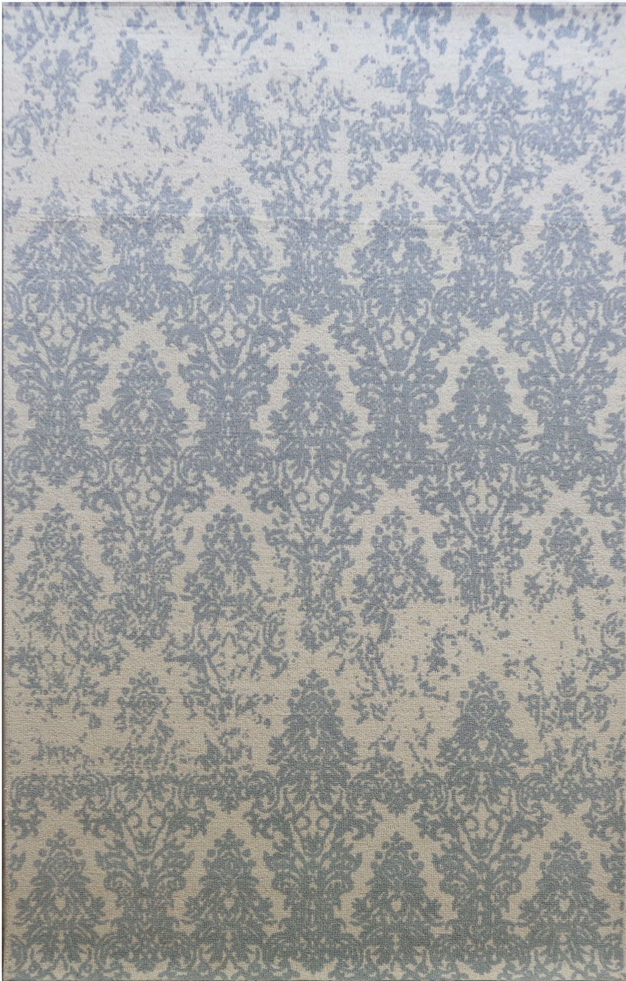 Anamaria Hand-Woven Ivory/Gray Area Rug Rug Size: Rectangle 5' x 8'