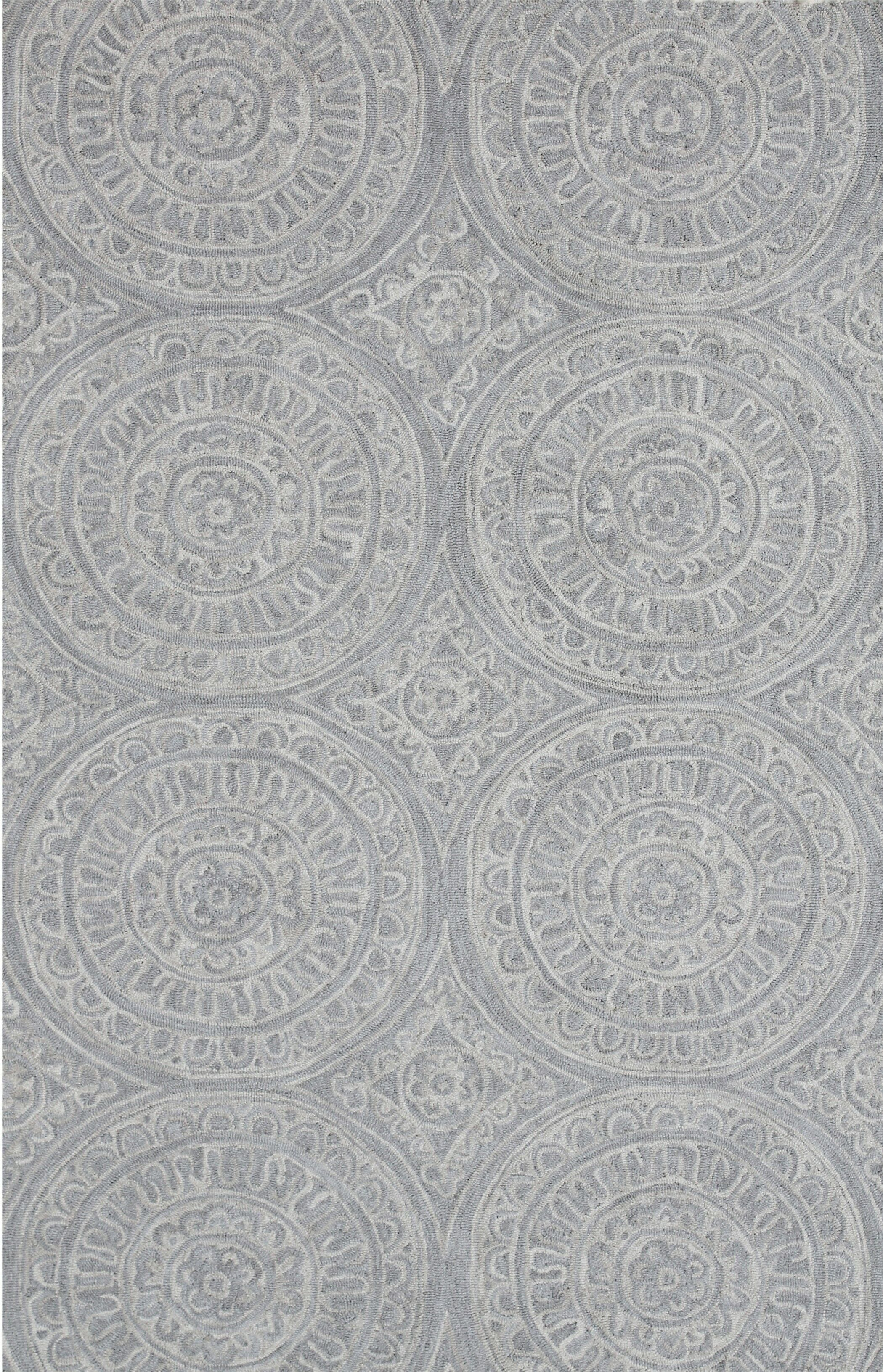 Galen Handmade Silver Area Rug Rug Size: Rectangle 3'3