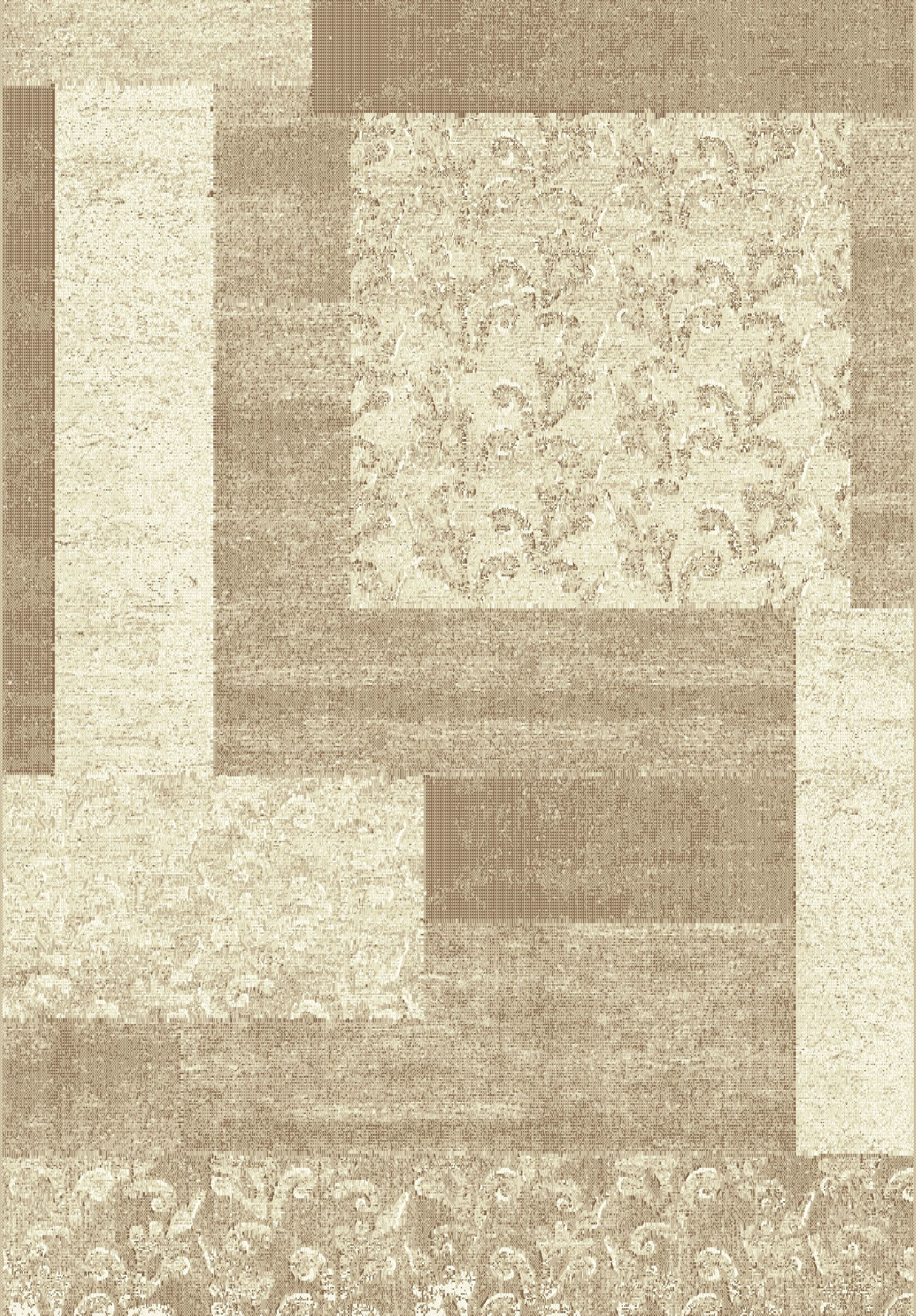Stringer Beige Block Area Rug Rug Size: Rectangle 6'7