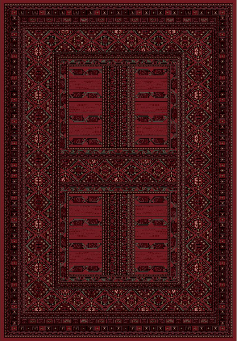 Solange Red Area Rug Rug Size: Rectangle 6'7