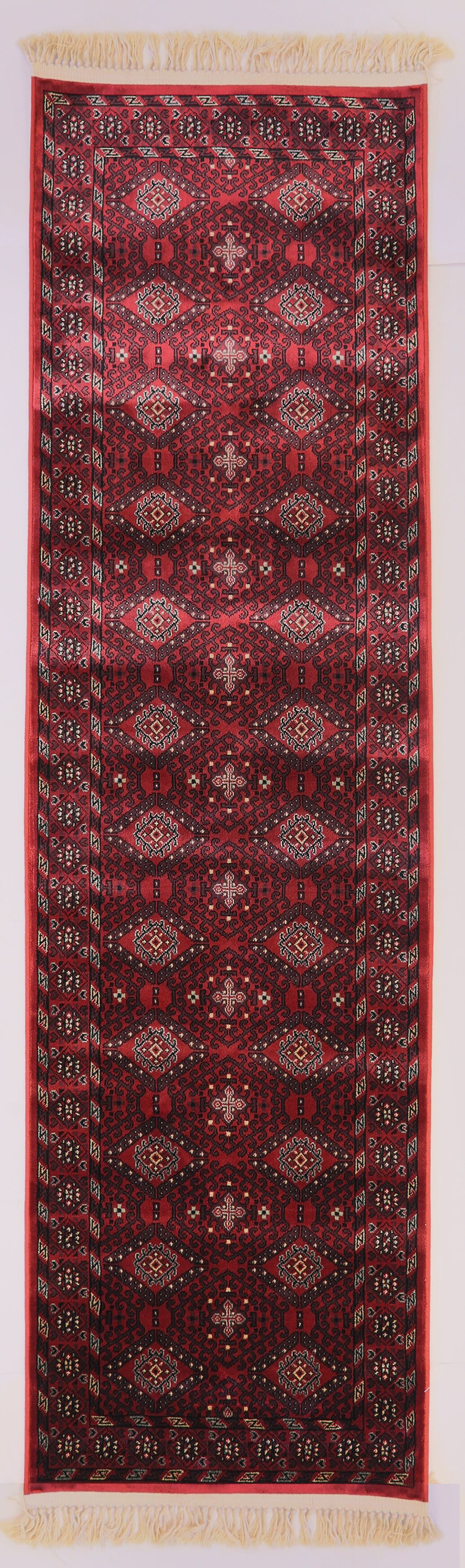 Solange Red Area Rug Rug Size: Rectangle 9'2